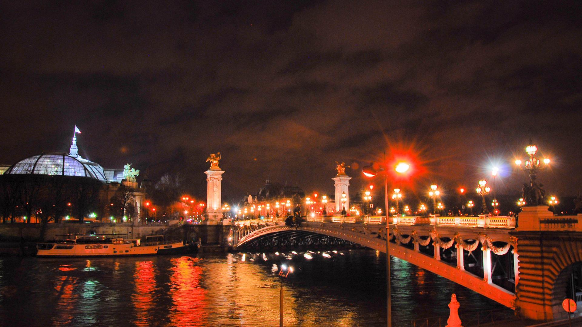 Le Grand Palais et la Seine colorée