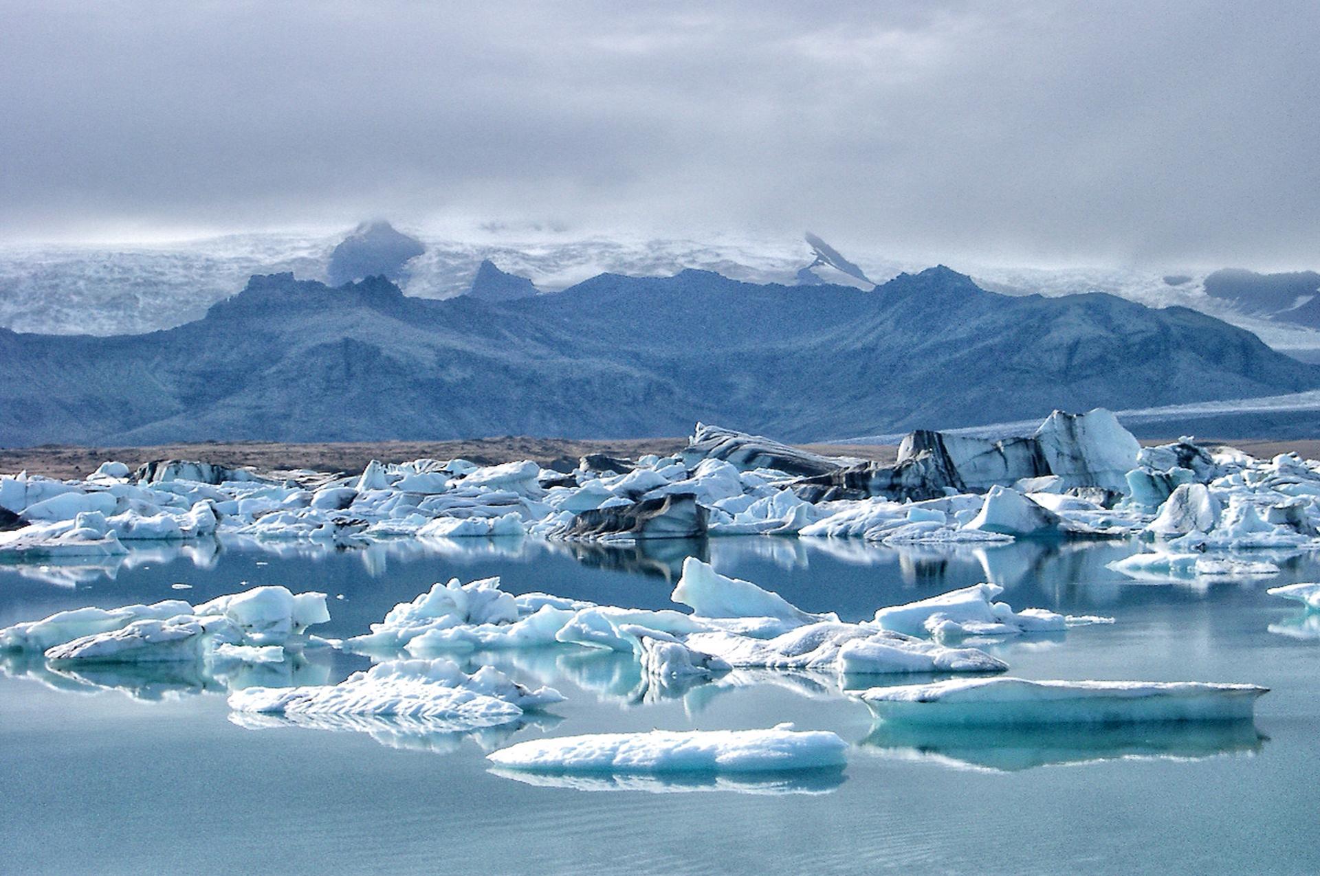 Icebergs (Jokulsarlon, Islande)
