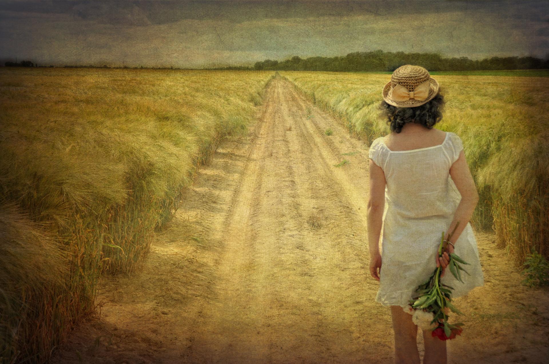 Le chemin...(autoportrait)