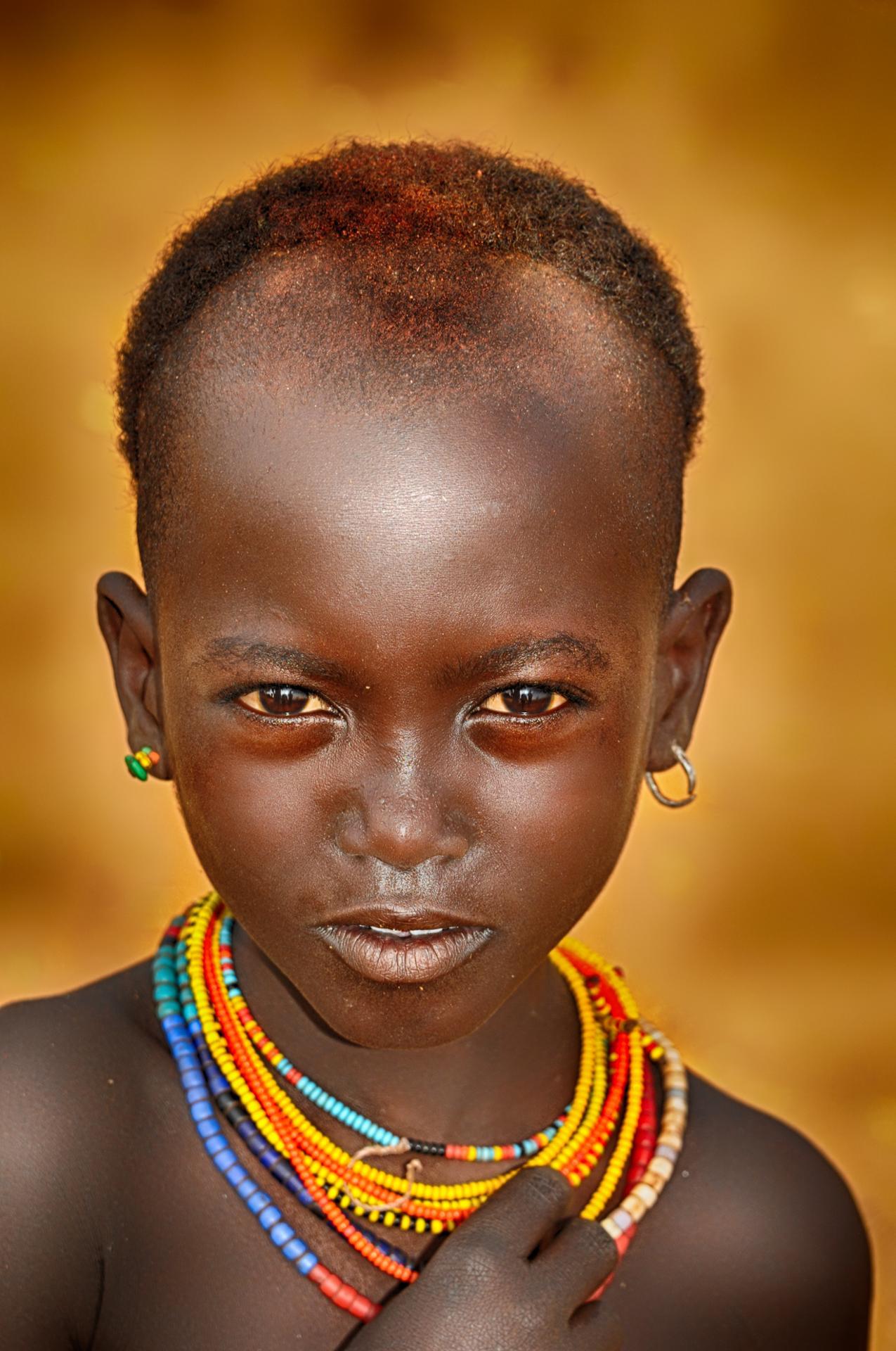 Fillette de la tribu Hamar (Vallée de l'Omo, Ethiopie)