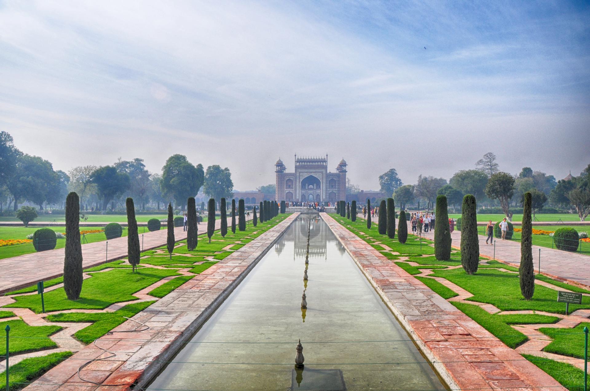 Géométrie végétale (Taj Mahal, Inde)