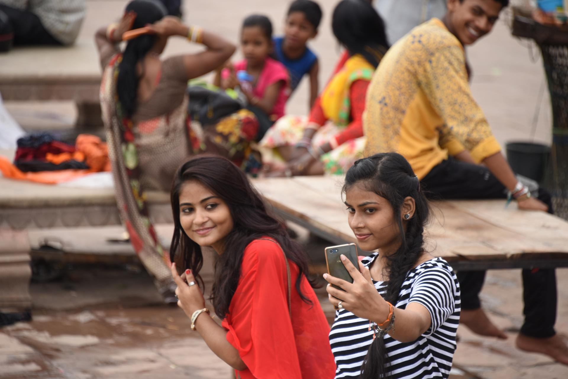 Selfie mania (Varanasi)