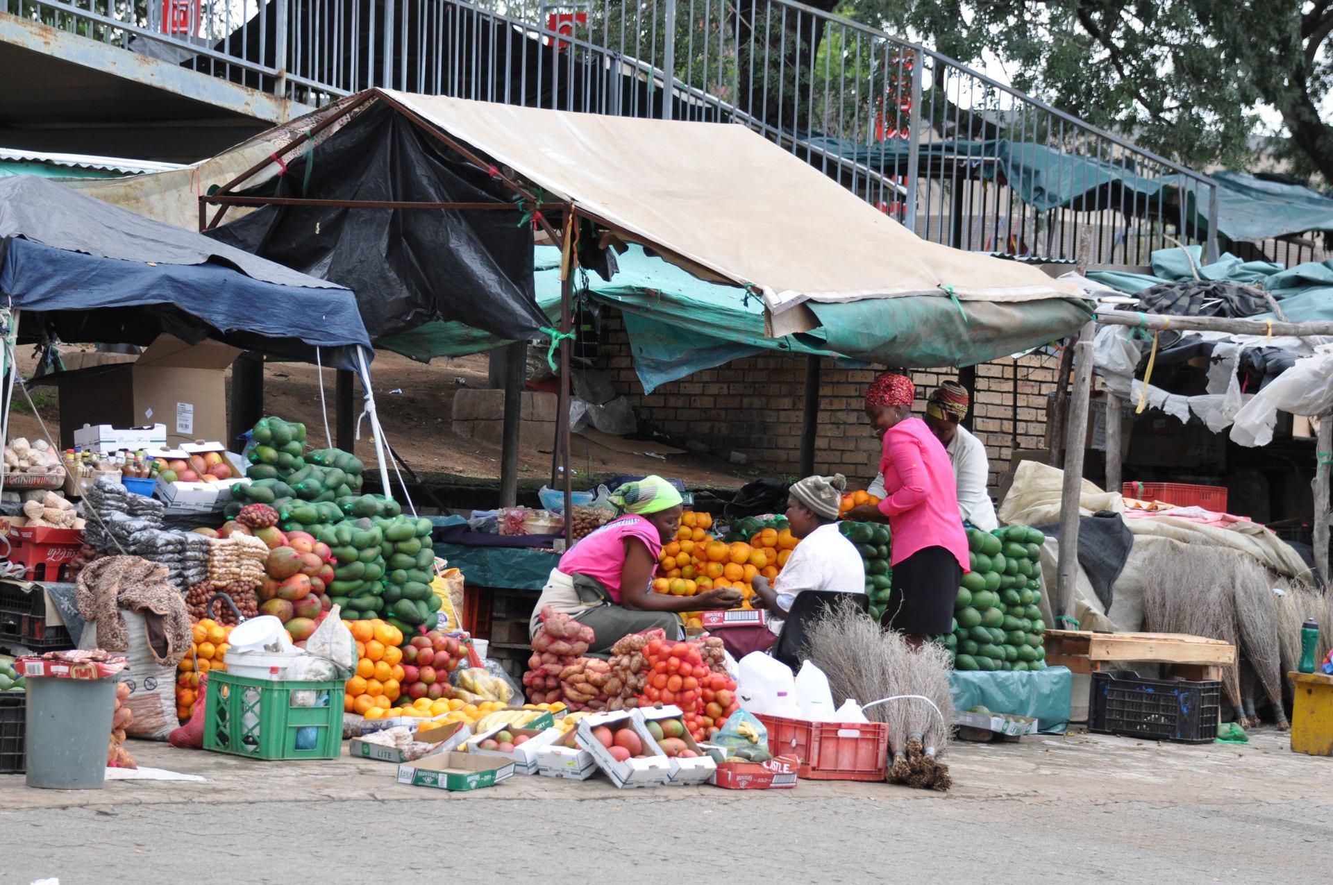 Marché coloré à Johannesburg