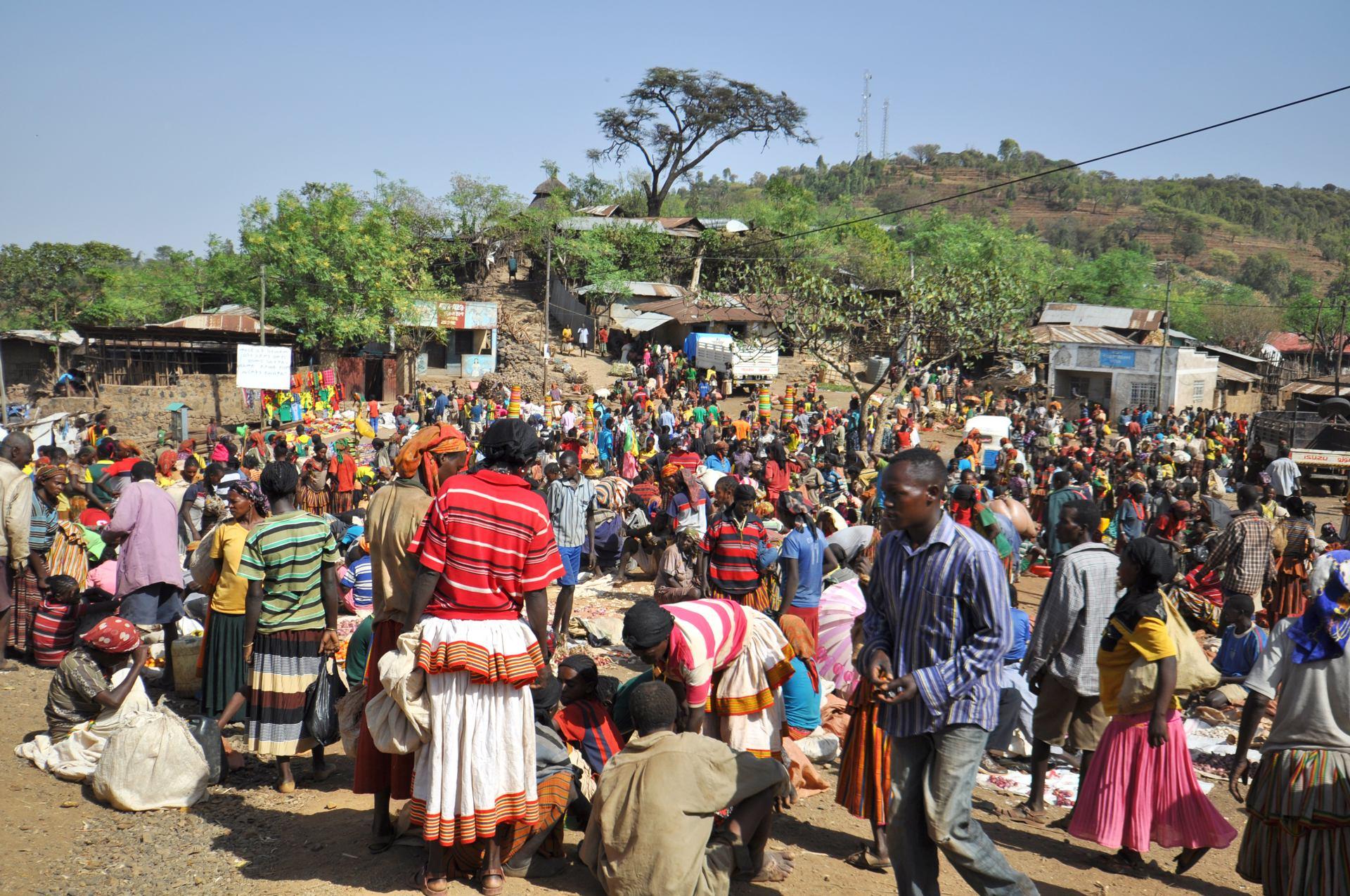 Marché coloré (Konso, Ethiopie)
