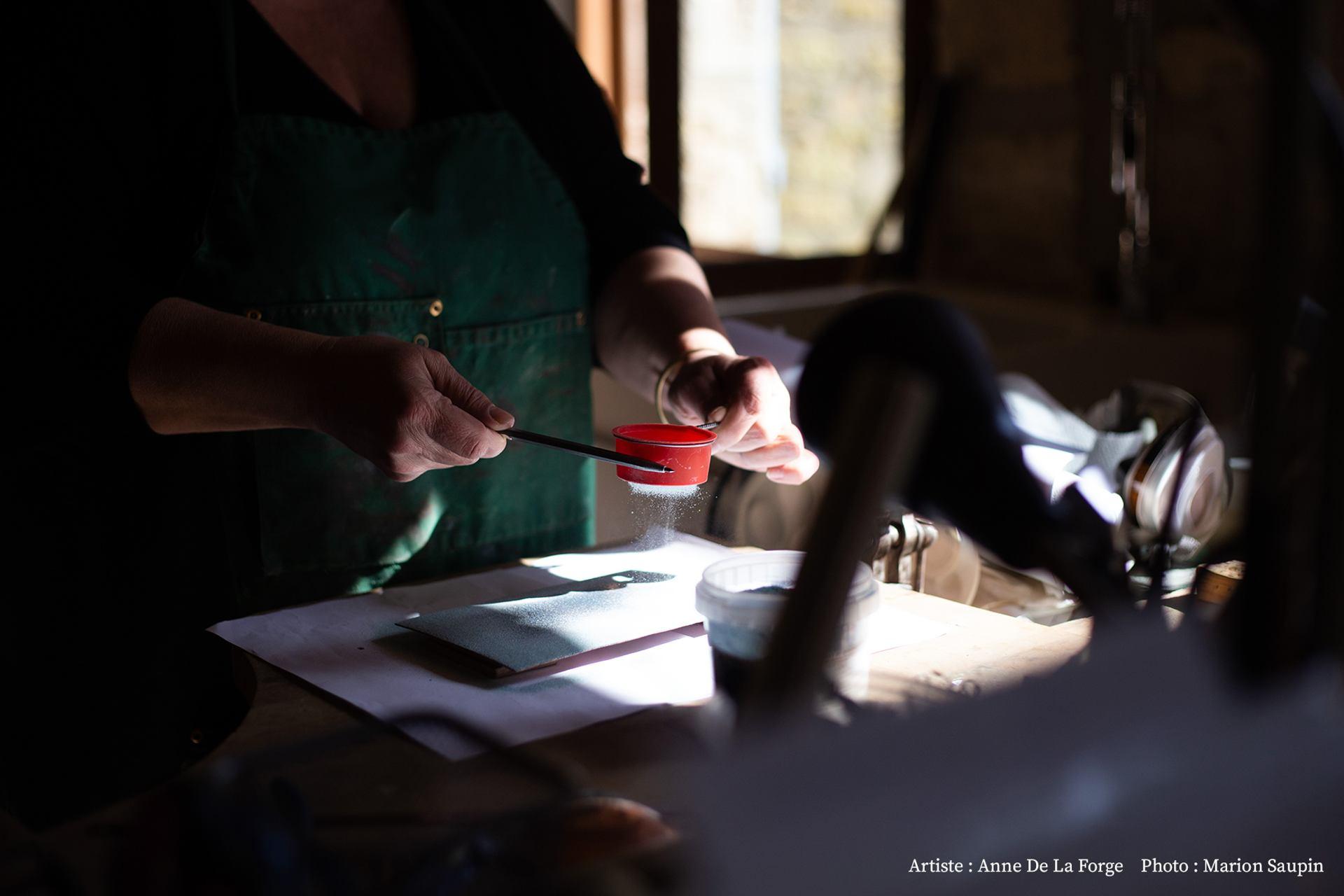 Dans l'atelier de Anne De La Forge (2)