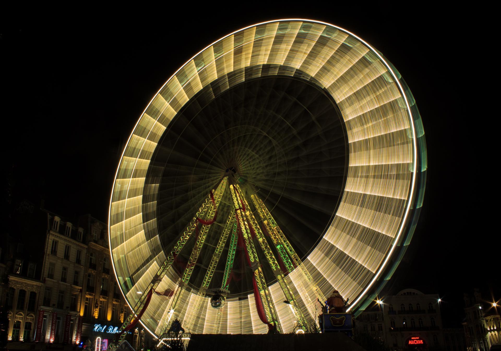 La grande roue en action
