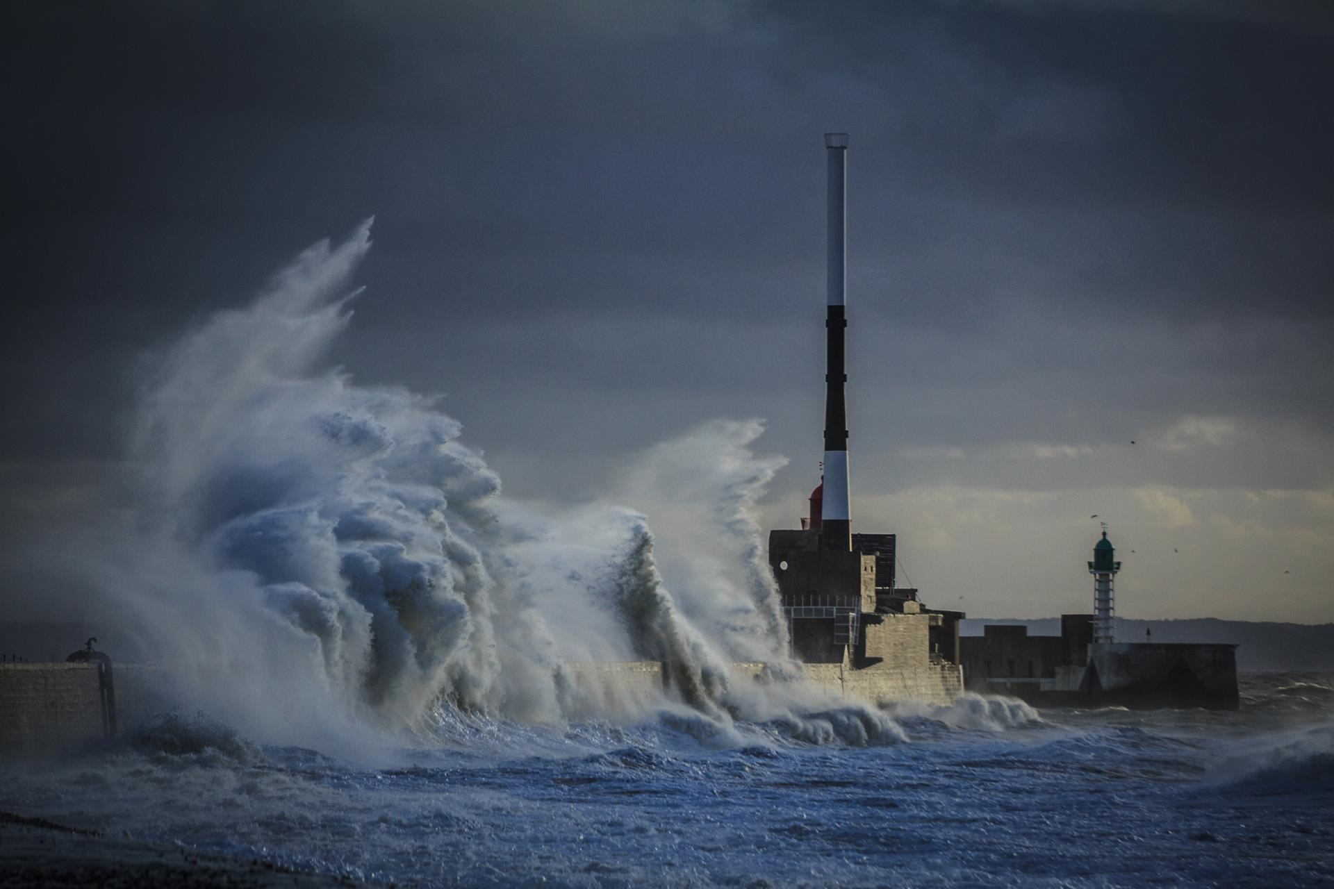 Forte rafale sur le Havre