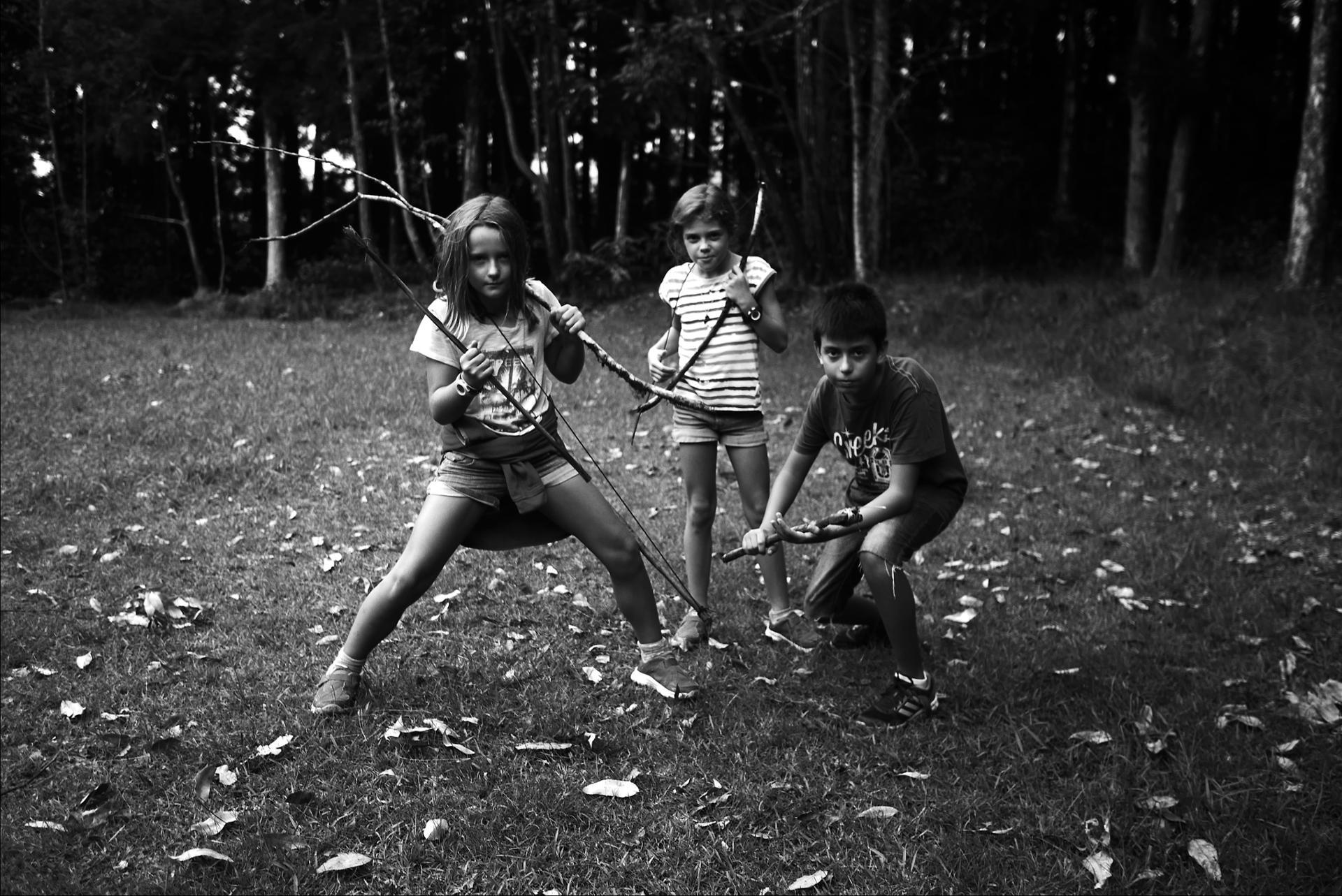 guerriers en herbe et forêt