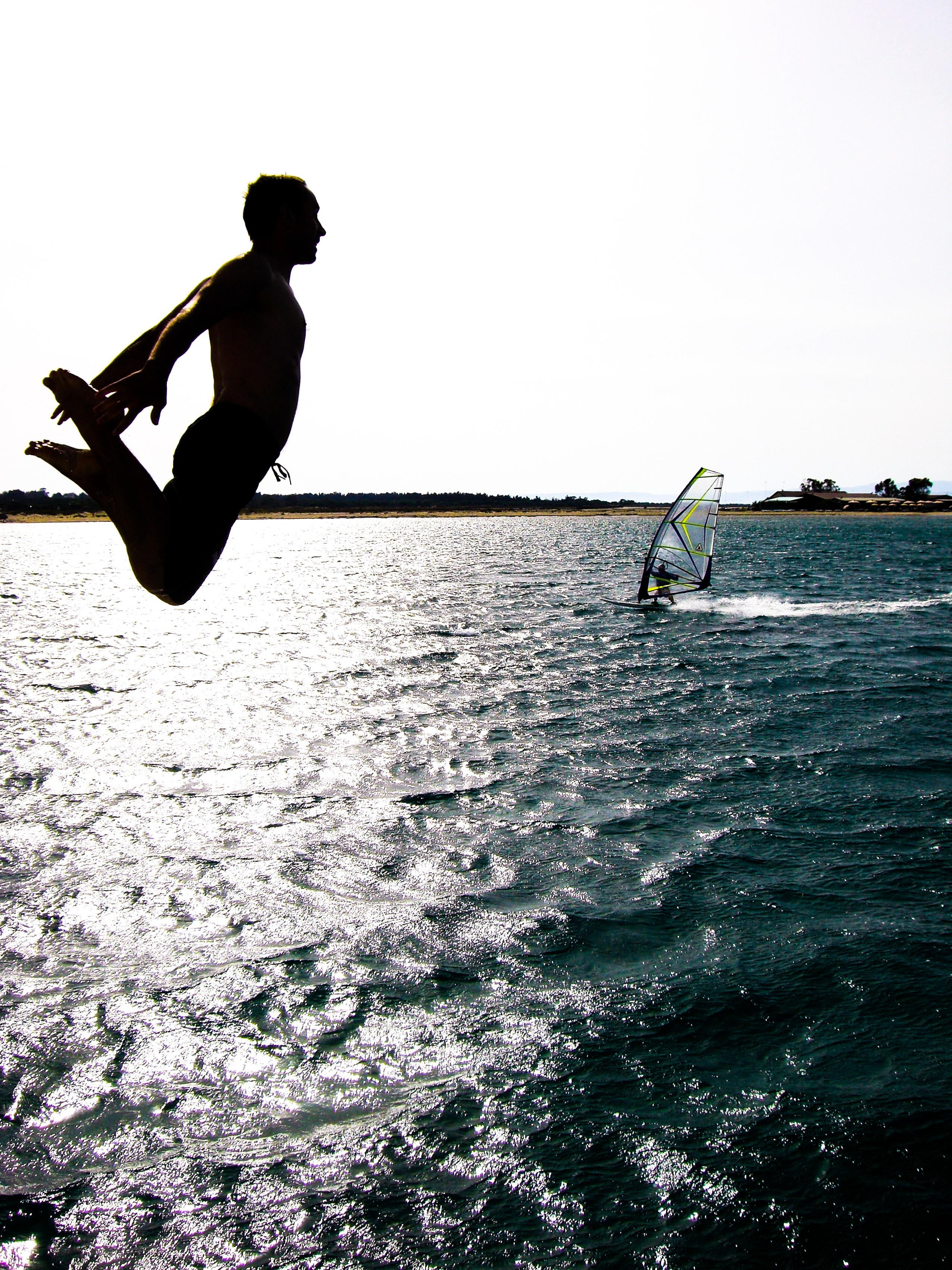 Flying Windsurfer