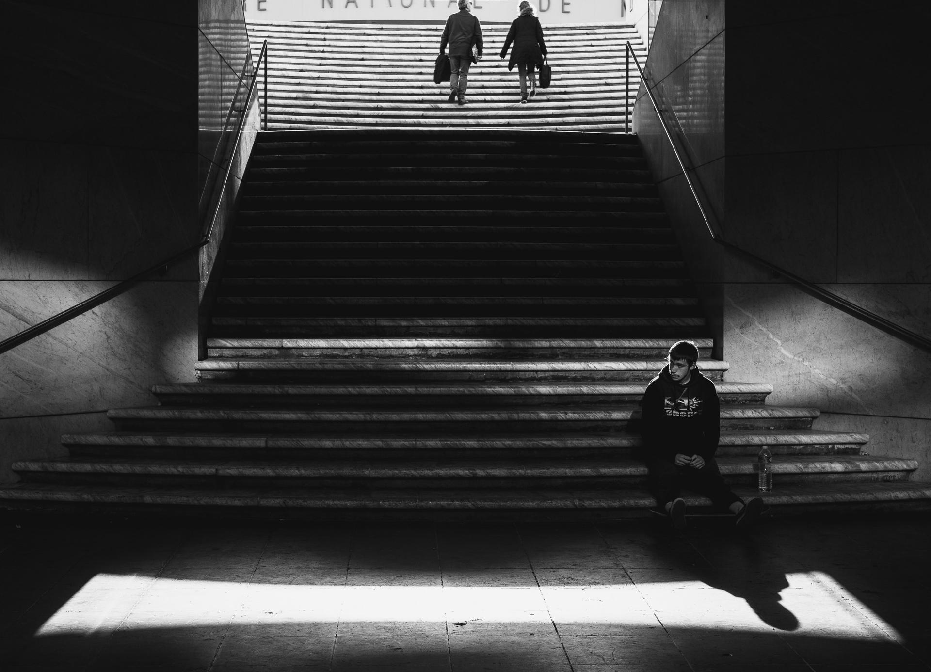 """""""Génération Abandonnée"""" - prise à l'entrée du Musée d'art moderne et d'art contemporain de Nice"""