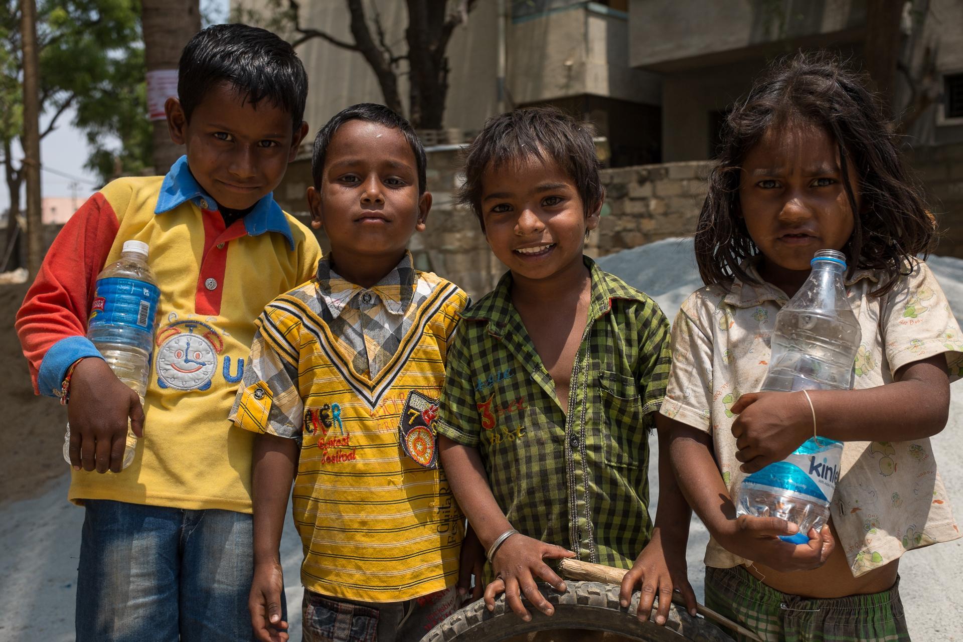 Enfants de Bangalore, Inde
