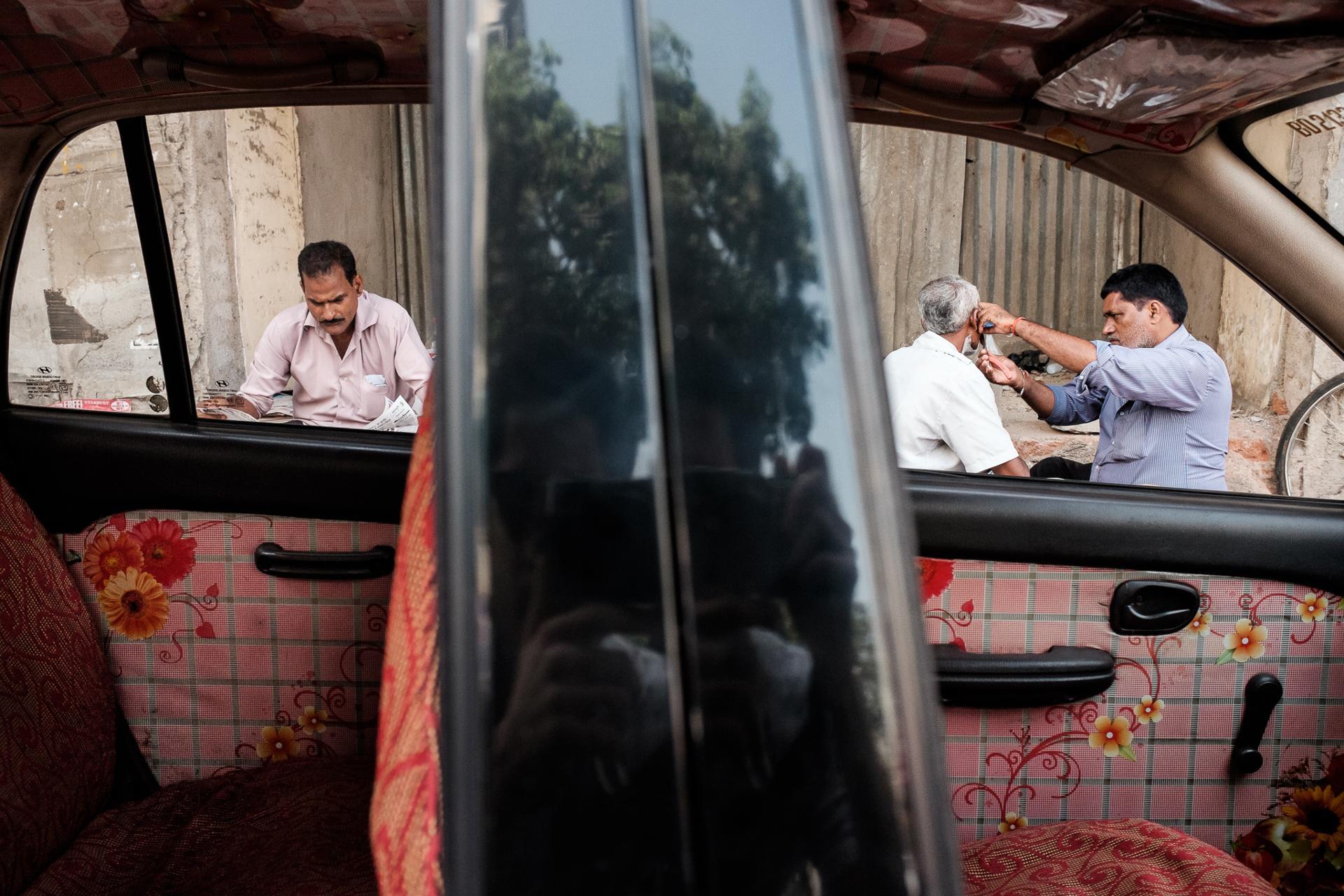 Inside an indian car, Mumbai, India