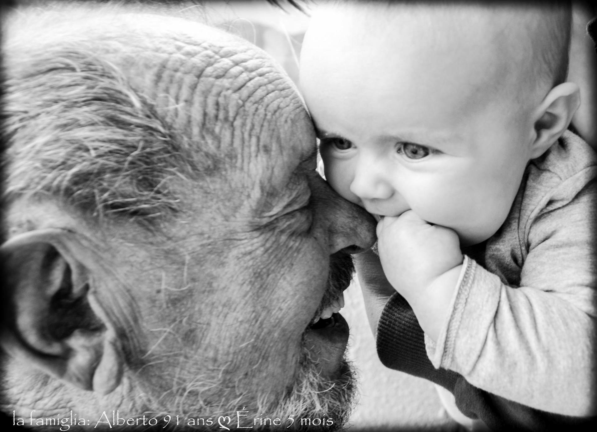 La joie d'Alberto, arrière grand père