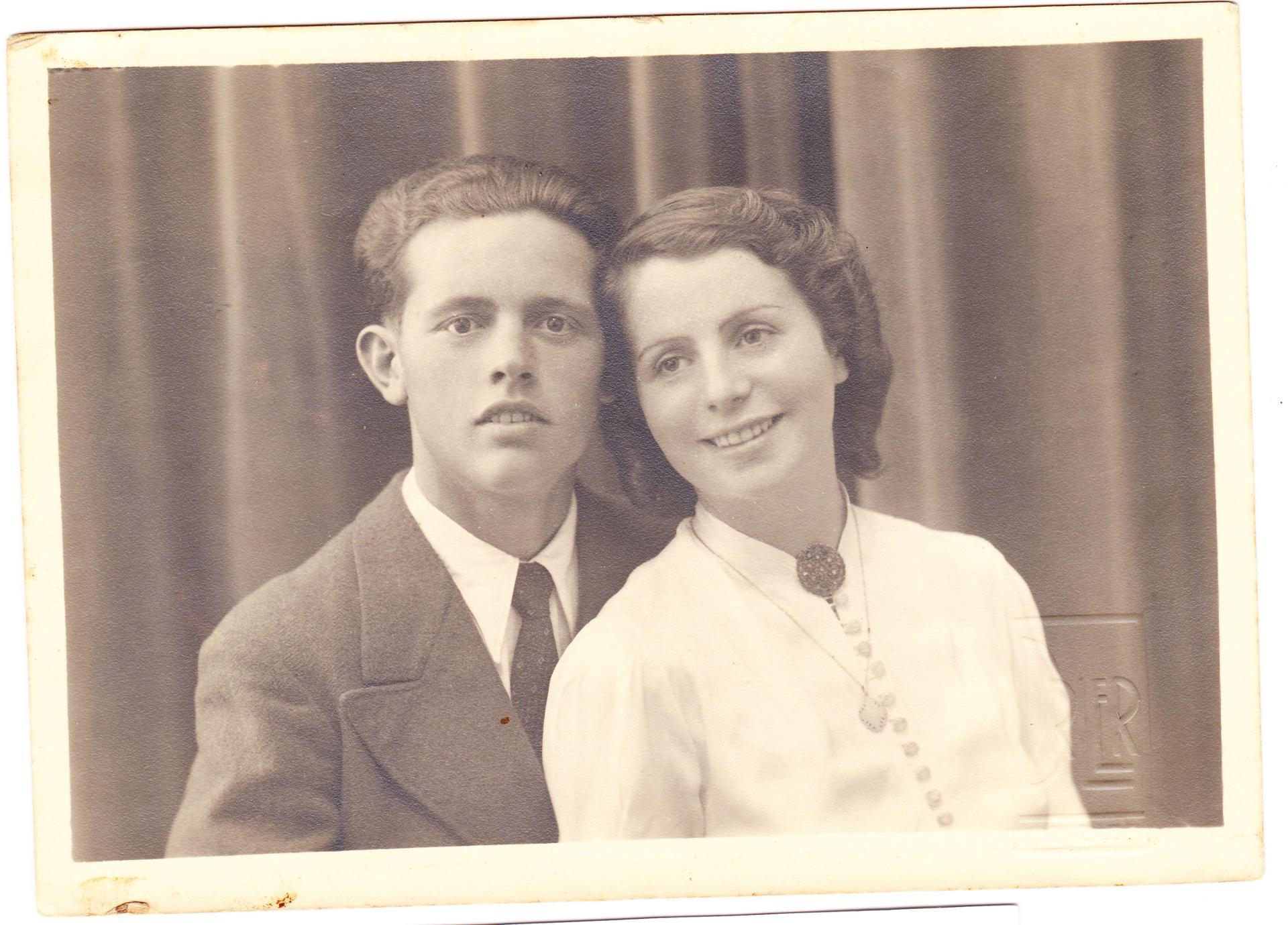 Alberto et Gilberte 70 ans plus tôt