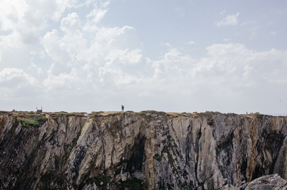 Lovers on the cliff