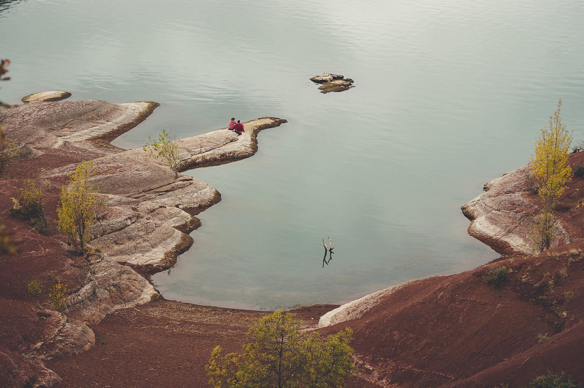 L'automne au bord du Salagou
