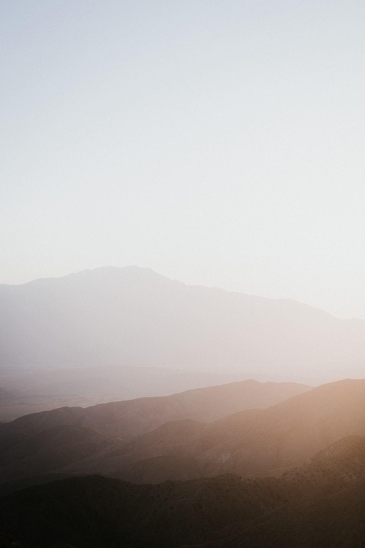 Coucher de soleil sur la désertique vallée de Coachella