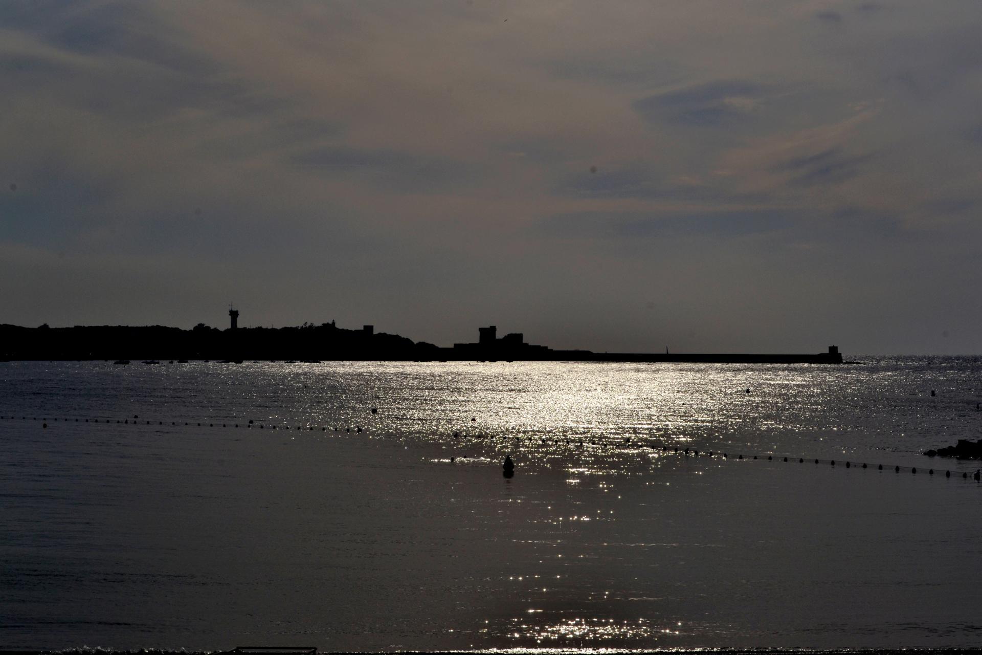 Le fort de Socoa contre jour