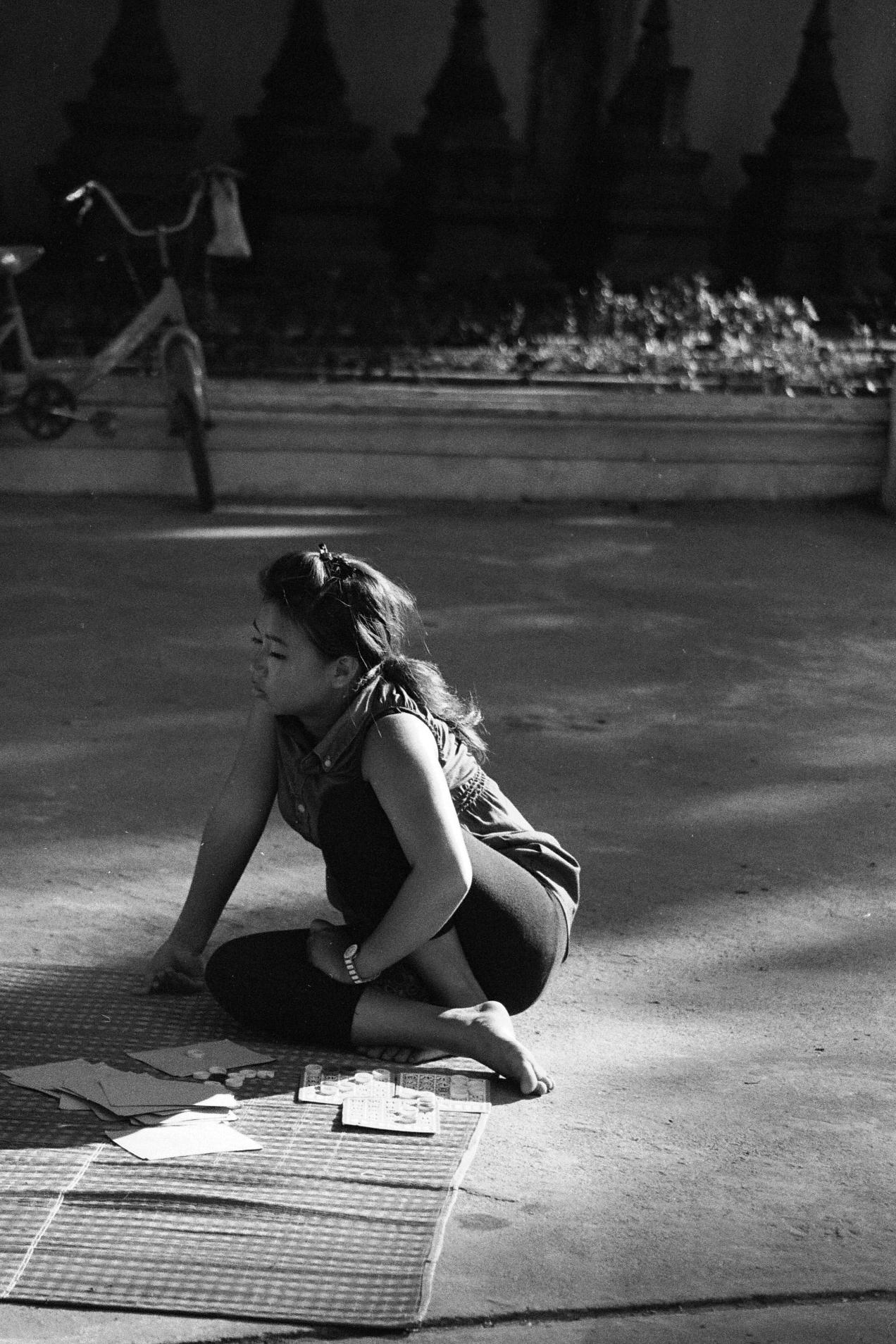 Playing Bingo in Vientiane