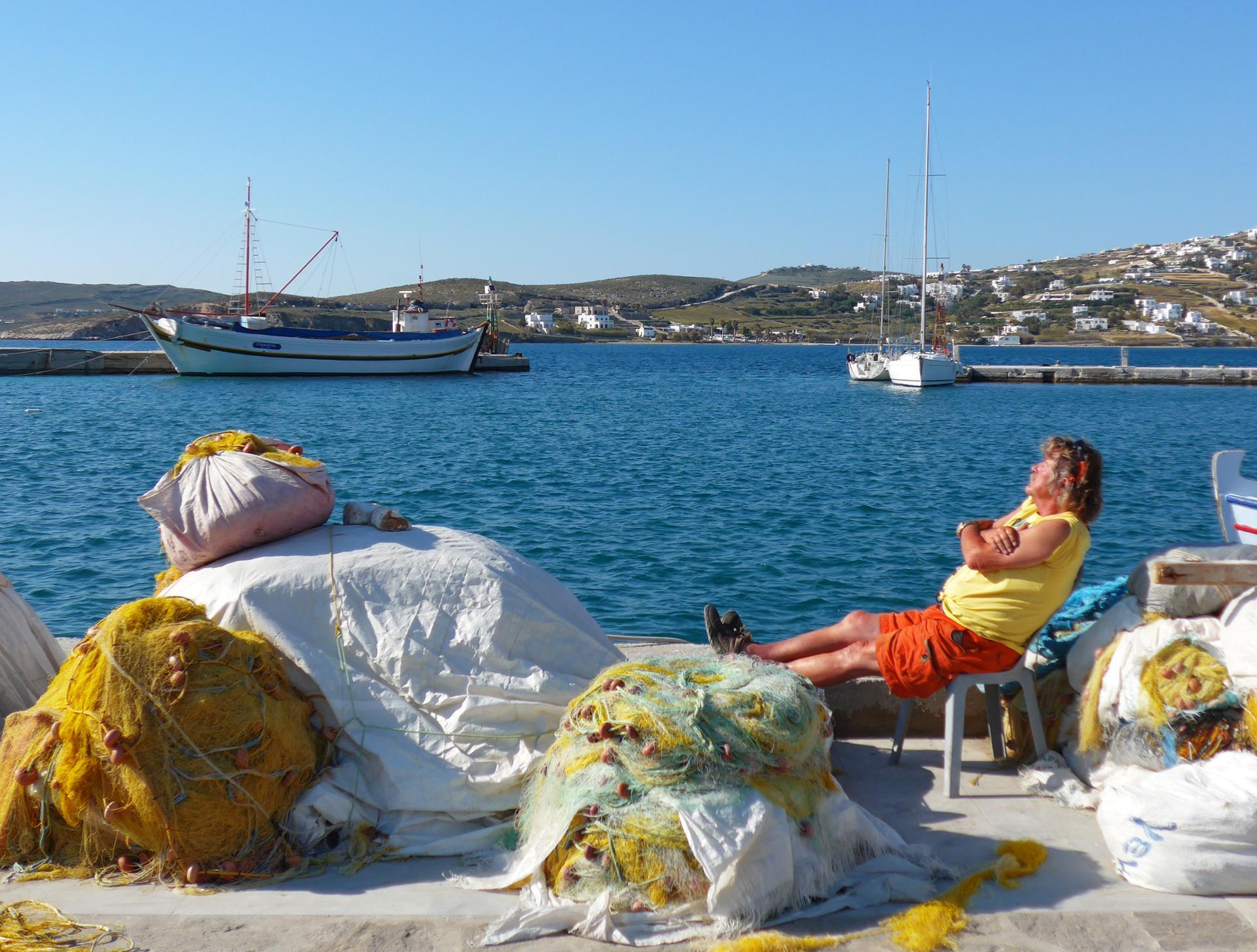 La pause du pêcheur - Cyclades