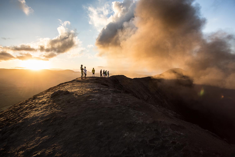 Au bord du cratère...