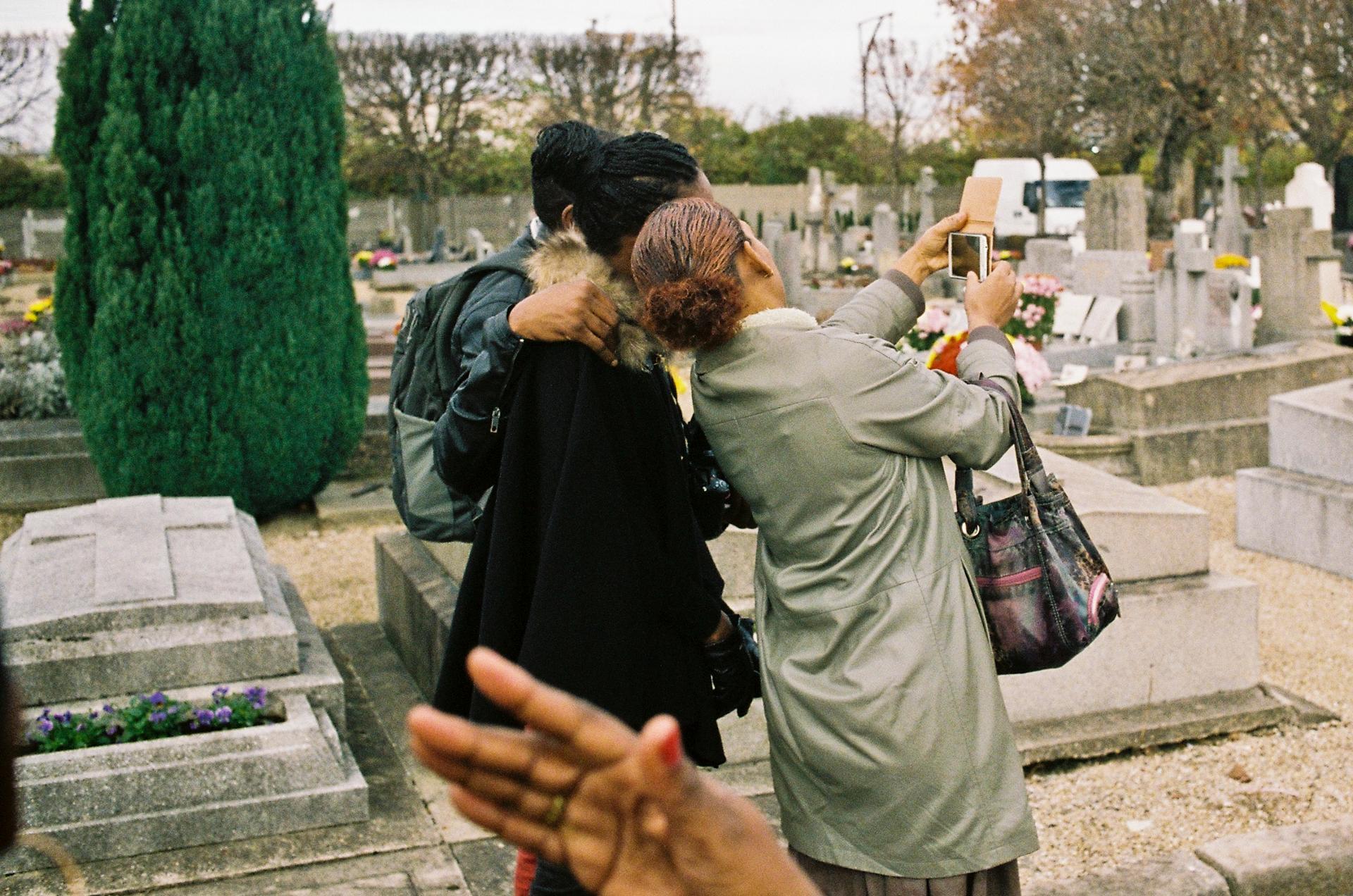 Selfie au cimetière d'Epinay sur Seine