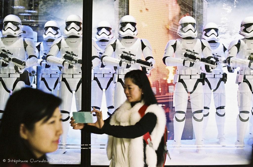 Selfie Star wars aux galeries Lafayette