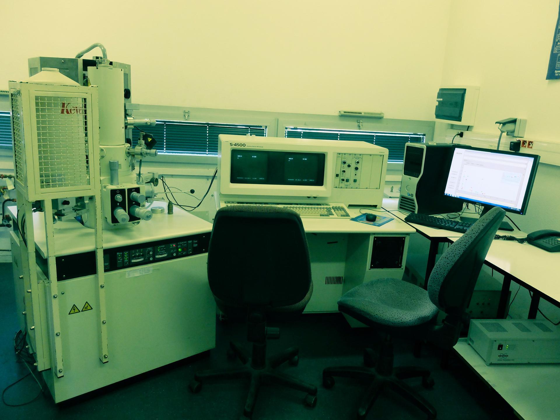 Intérieur d'un scientifique vintage