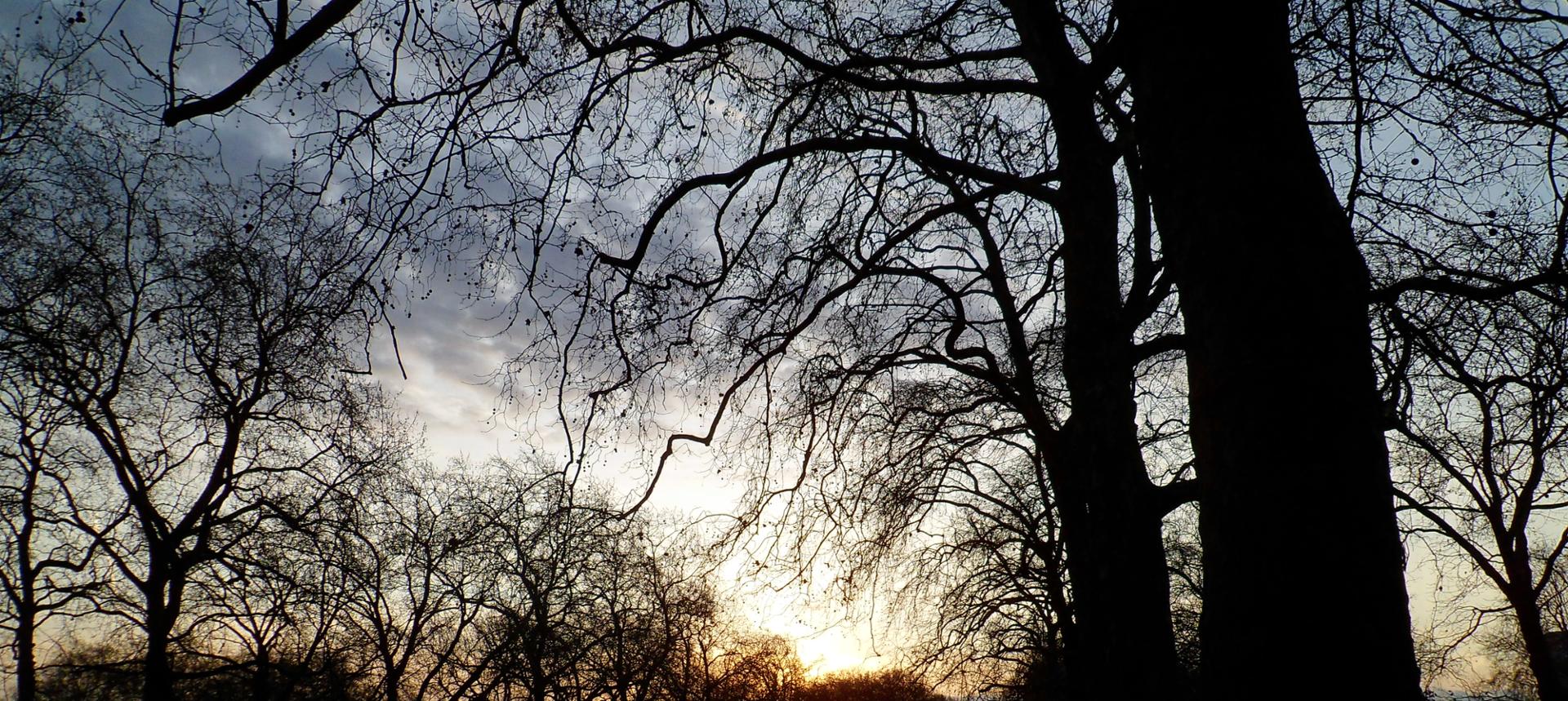 Le soleil se couche sur Londres