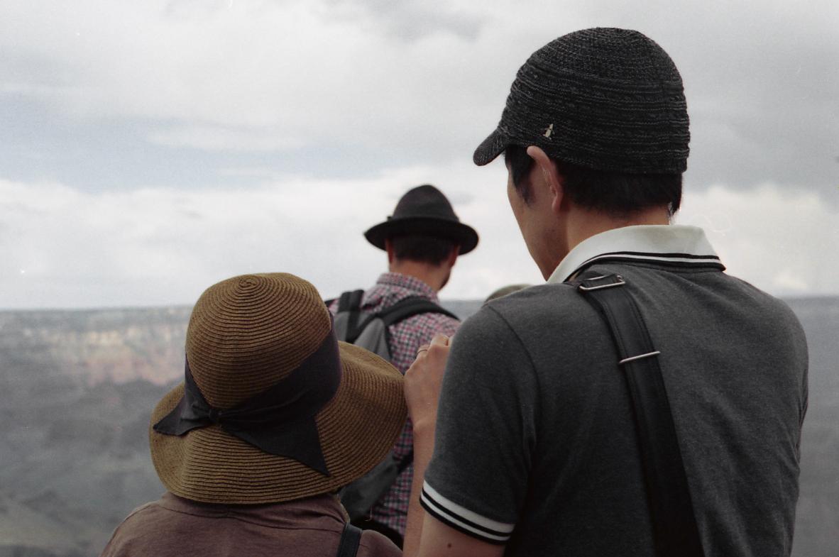 Grand Canyon, behind.