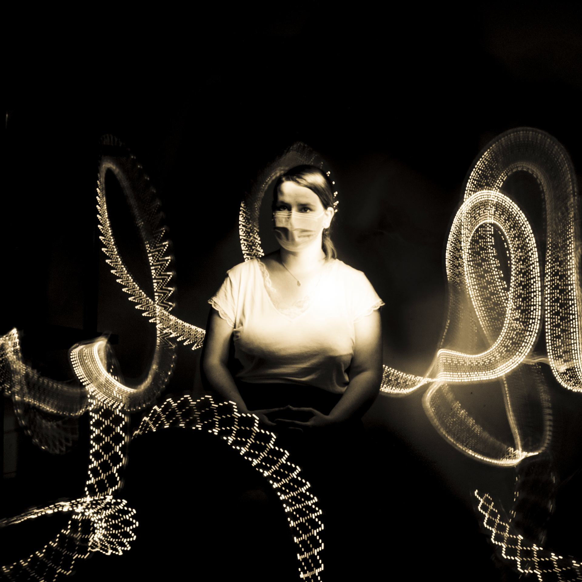 Portrait au lightpainting