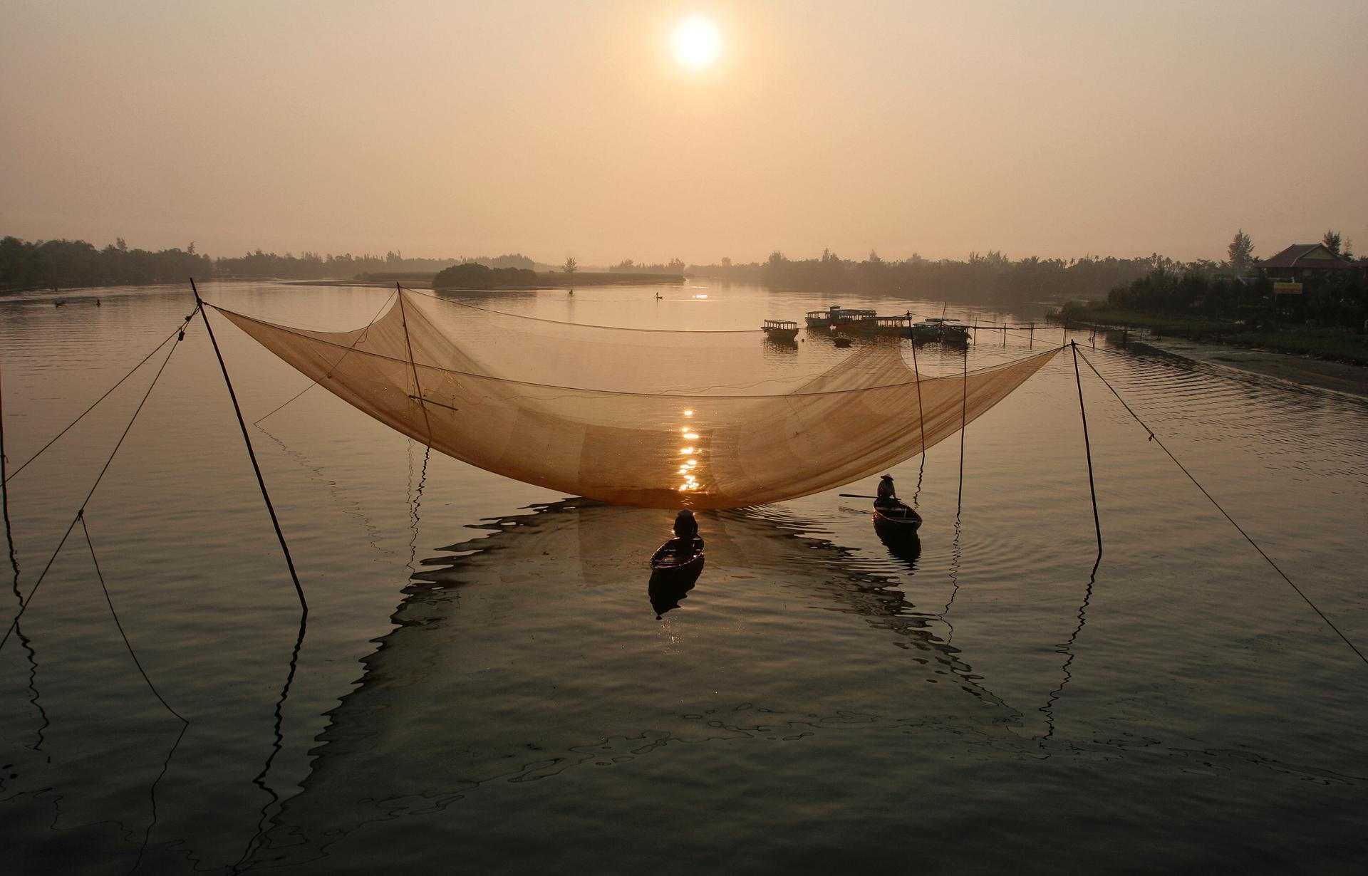 Lever de soleil sue le Mékong 4.