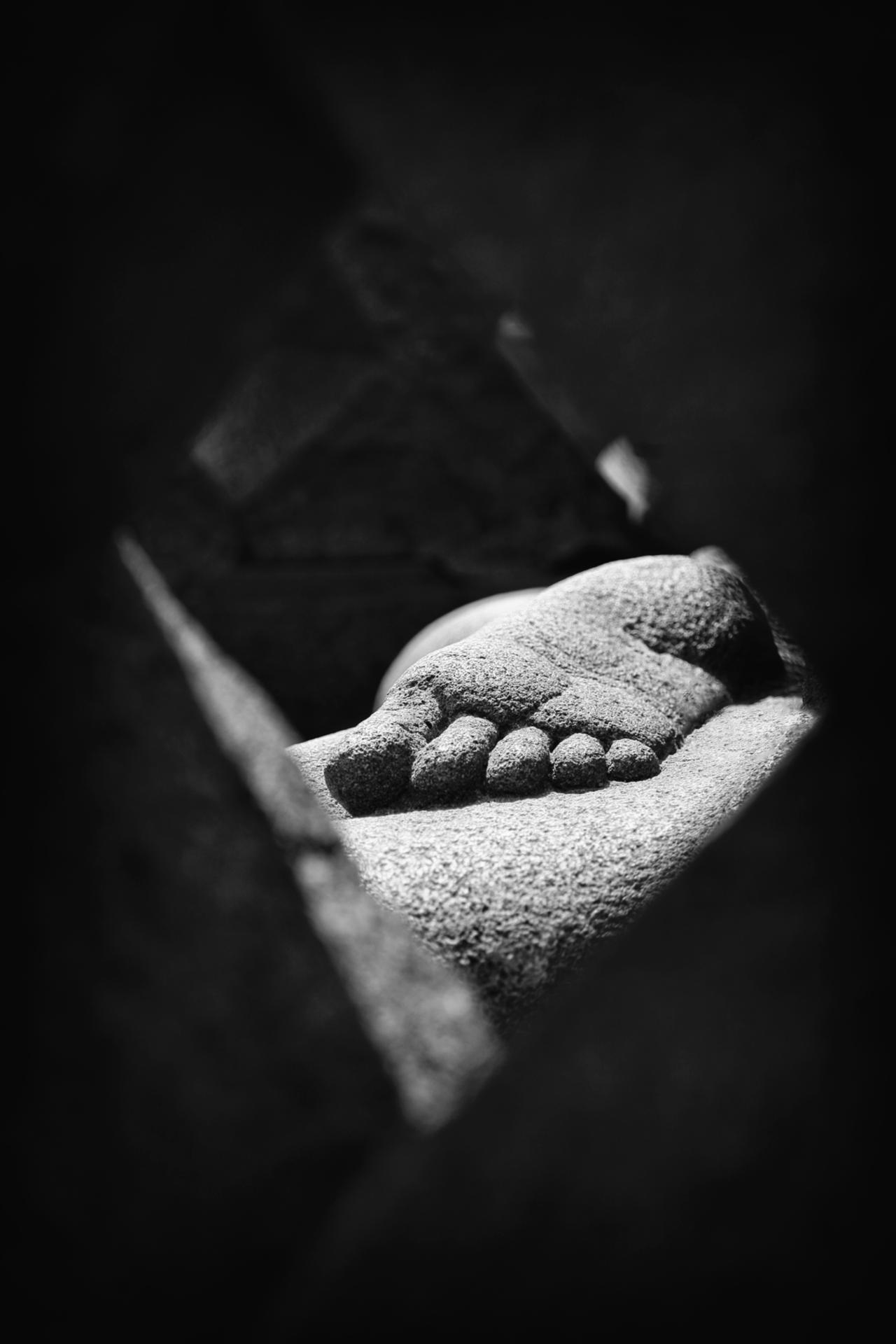 Le pied de Bouddha. Indonésie, Borobudur.