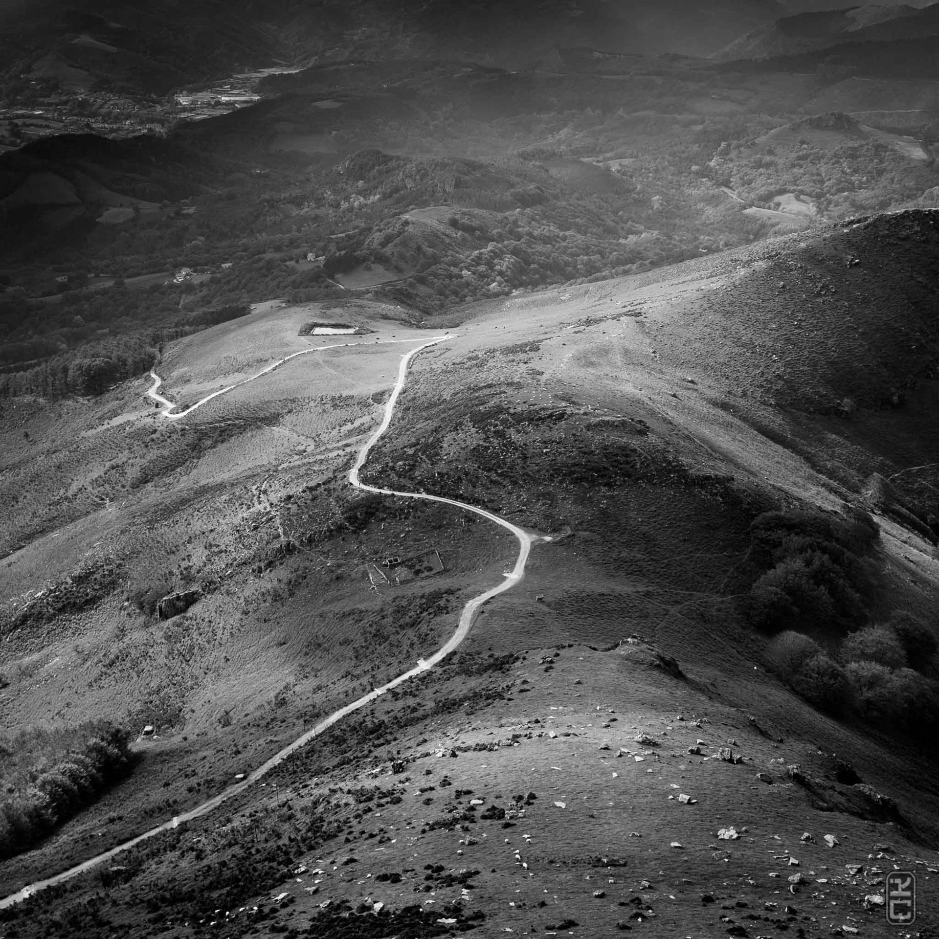 Craie blanche sur paysage