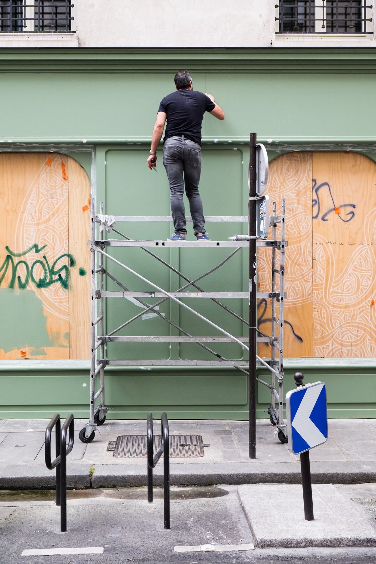 Le peintre en bâtiment