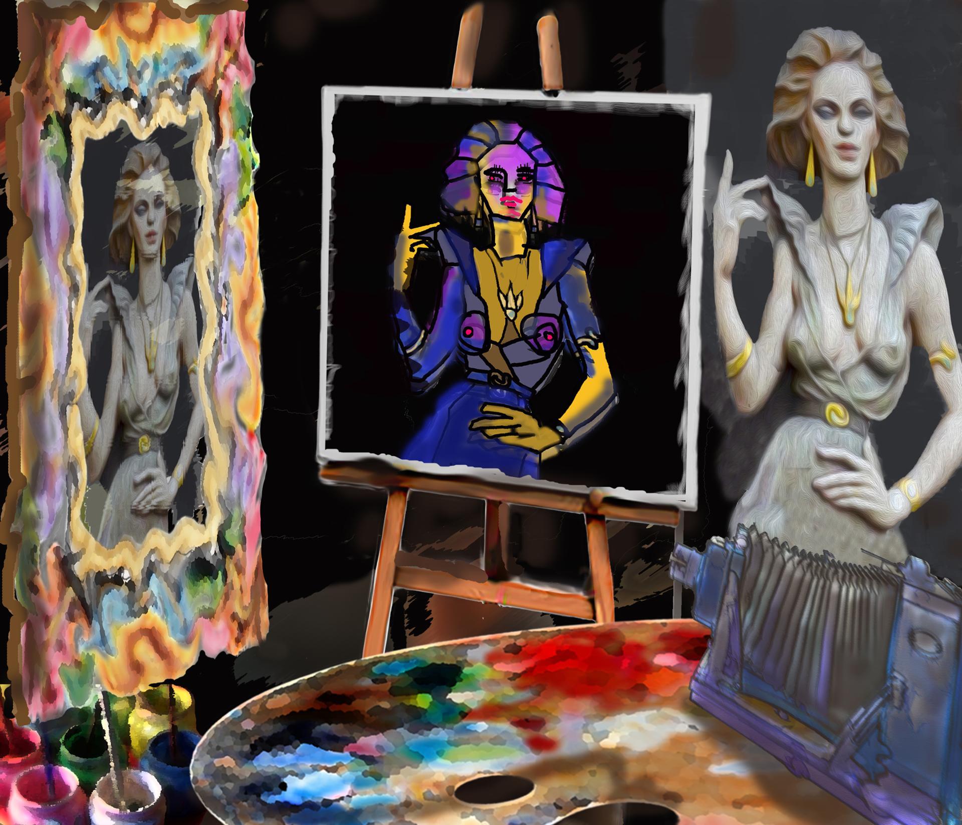 Qui voit la figure humaine correctement, le photographe, le miroir ou le peintre?