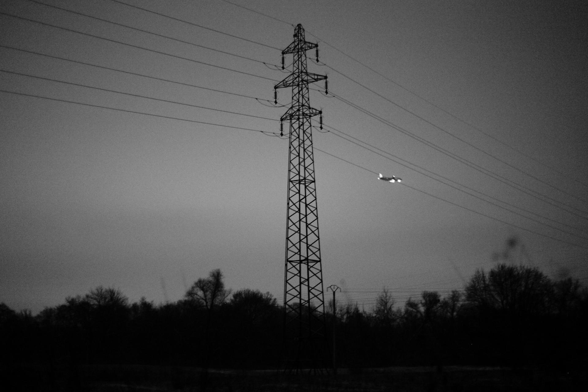 Ligne électrique et aérienne