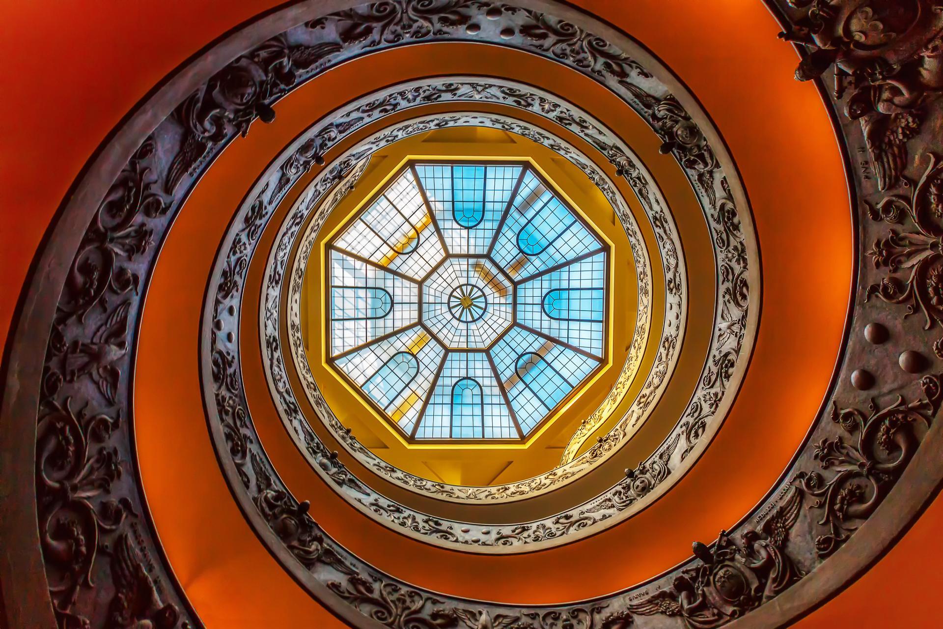 Vatican : l'escalier de Bramante