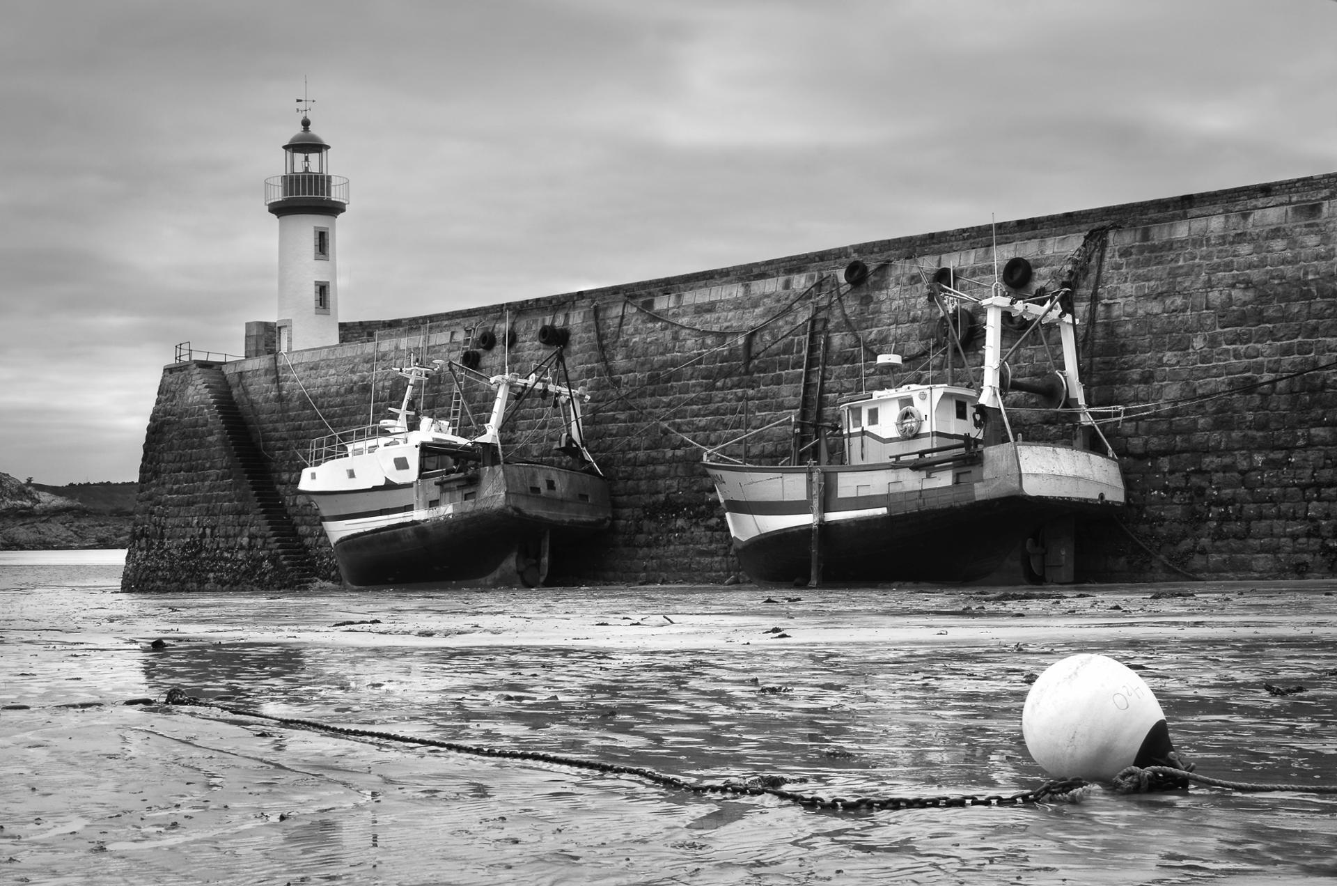 Port d'Erquy à marée basse
