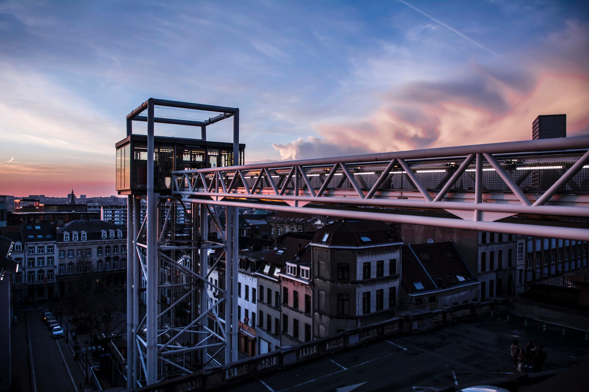 Brussels's sunset