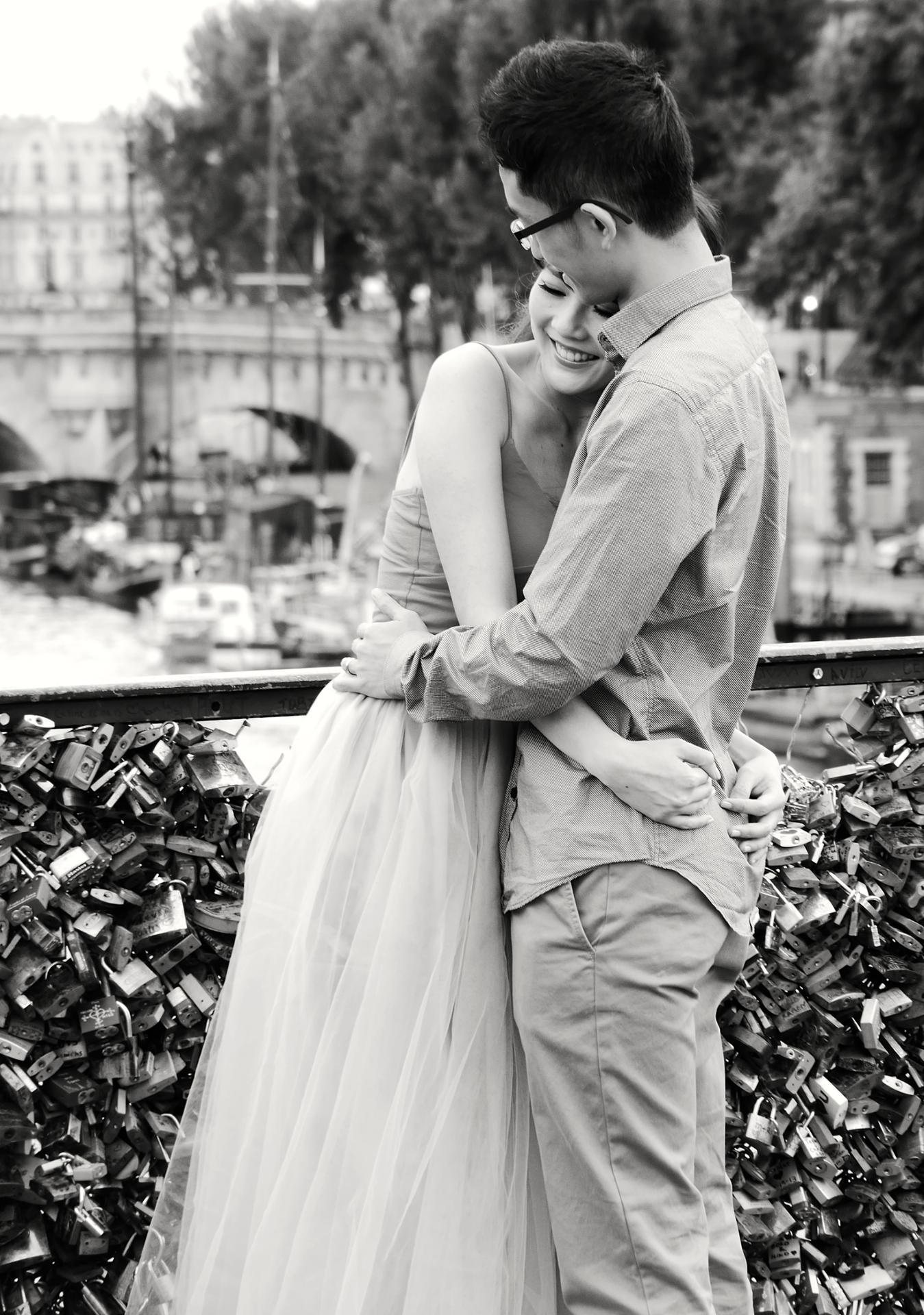 romantisme sur le pont