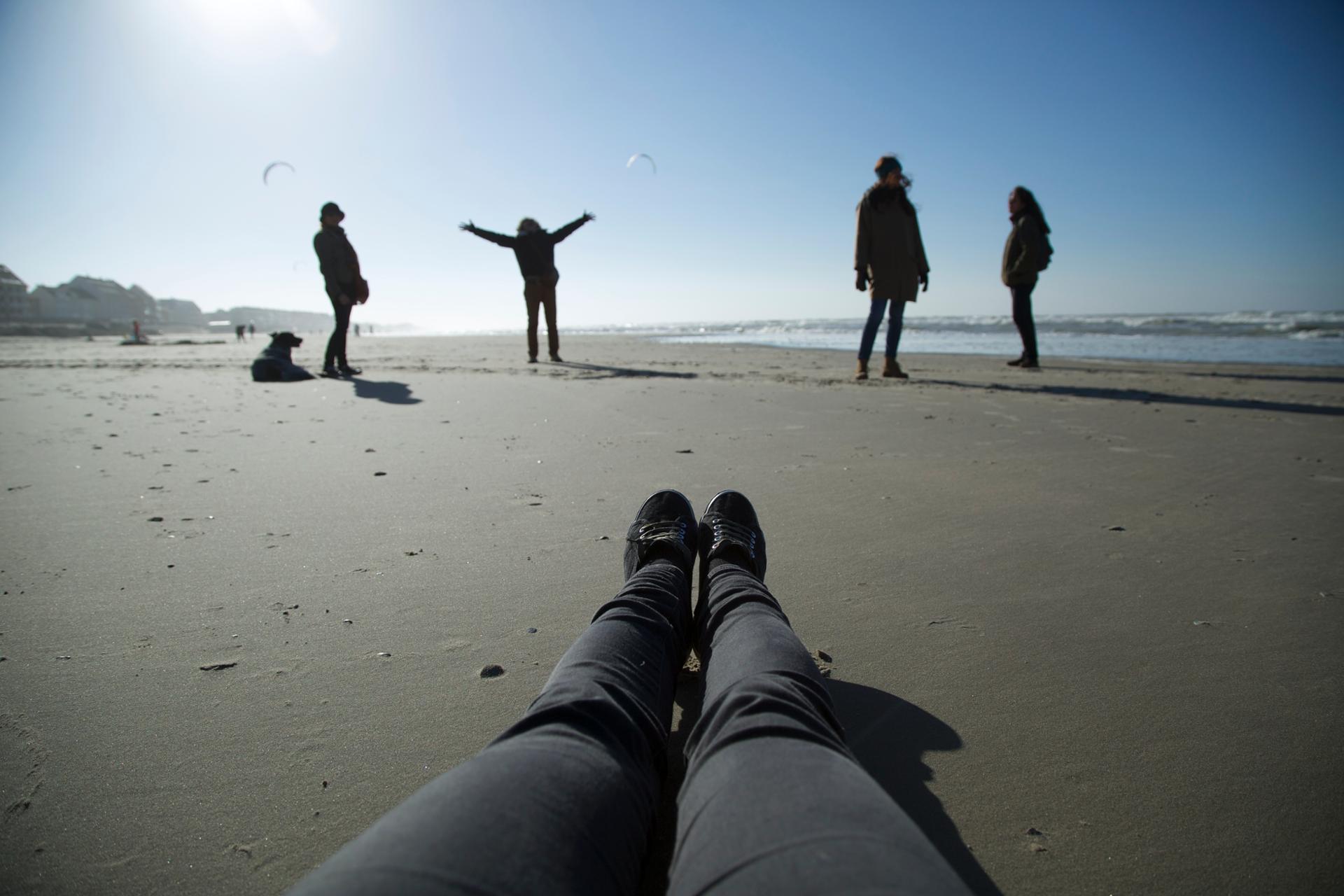 Enjambée de la plage