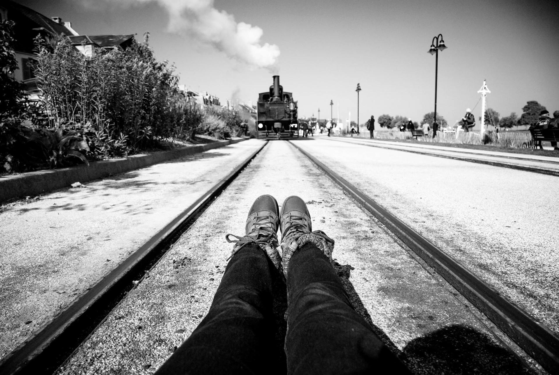 Enjambée du train