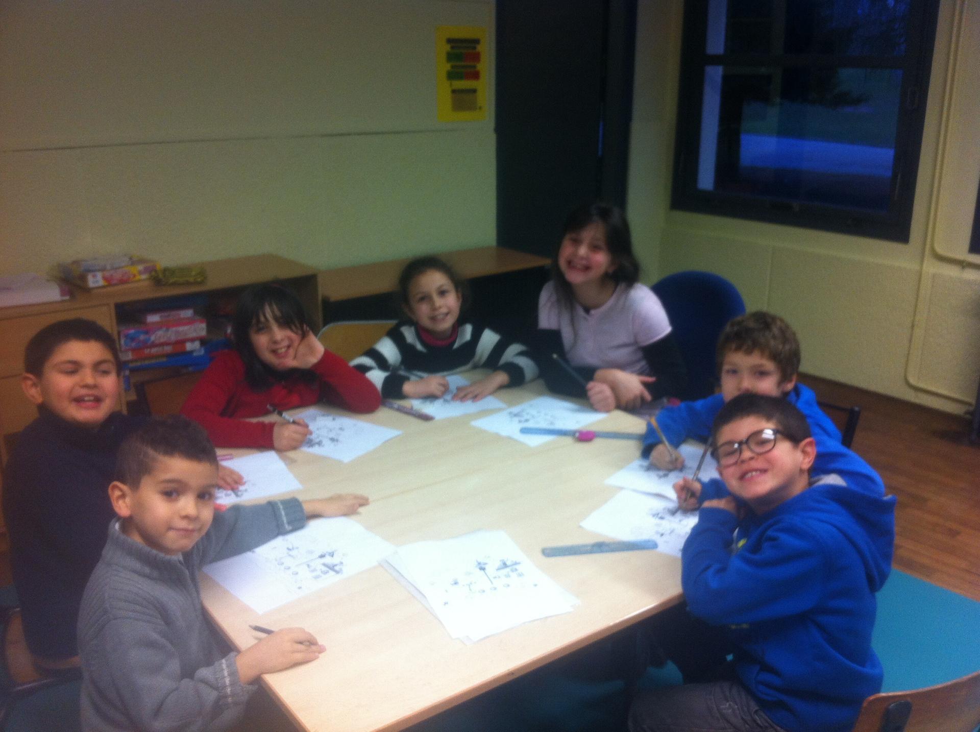 Atelier jeux des enfants CP et CE1