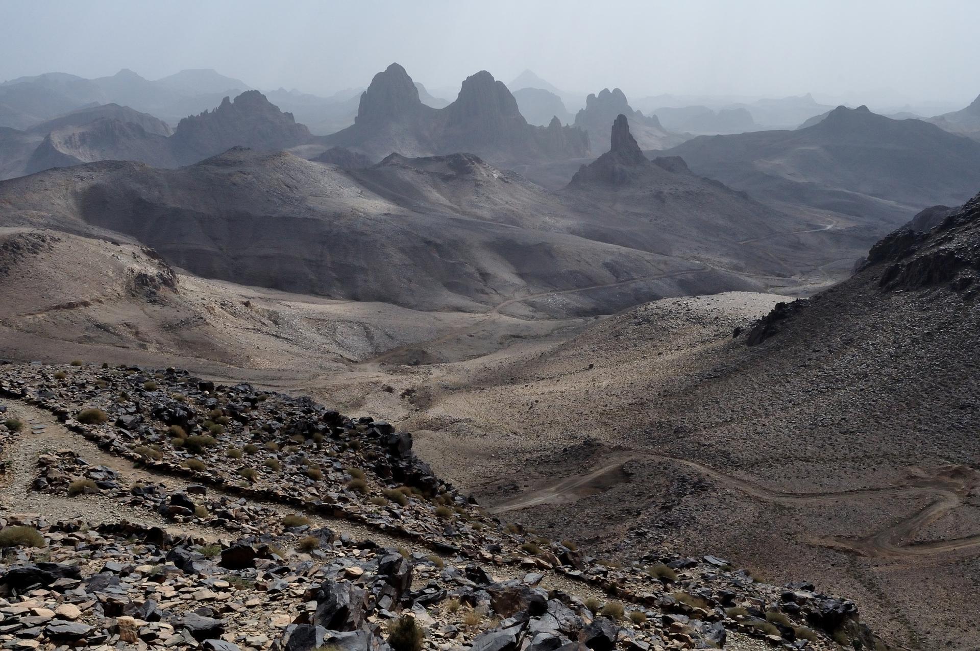 Le Hoggar, désert lunaire