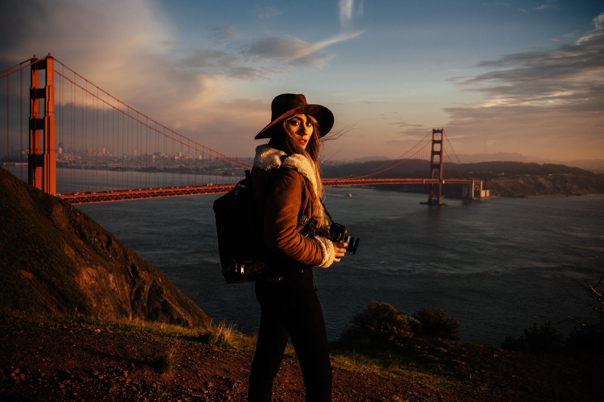 Sunset on San Francisco Golden Gate
