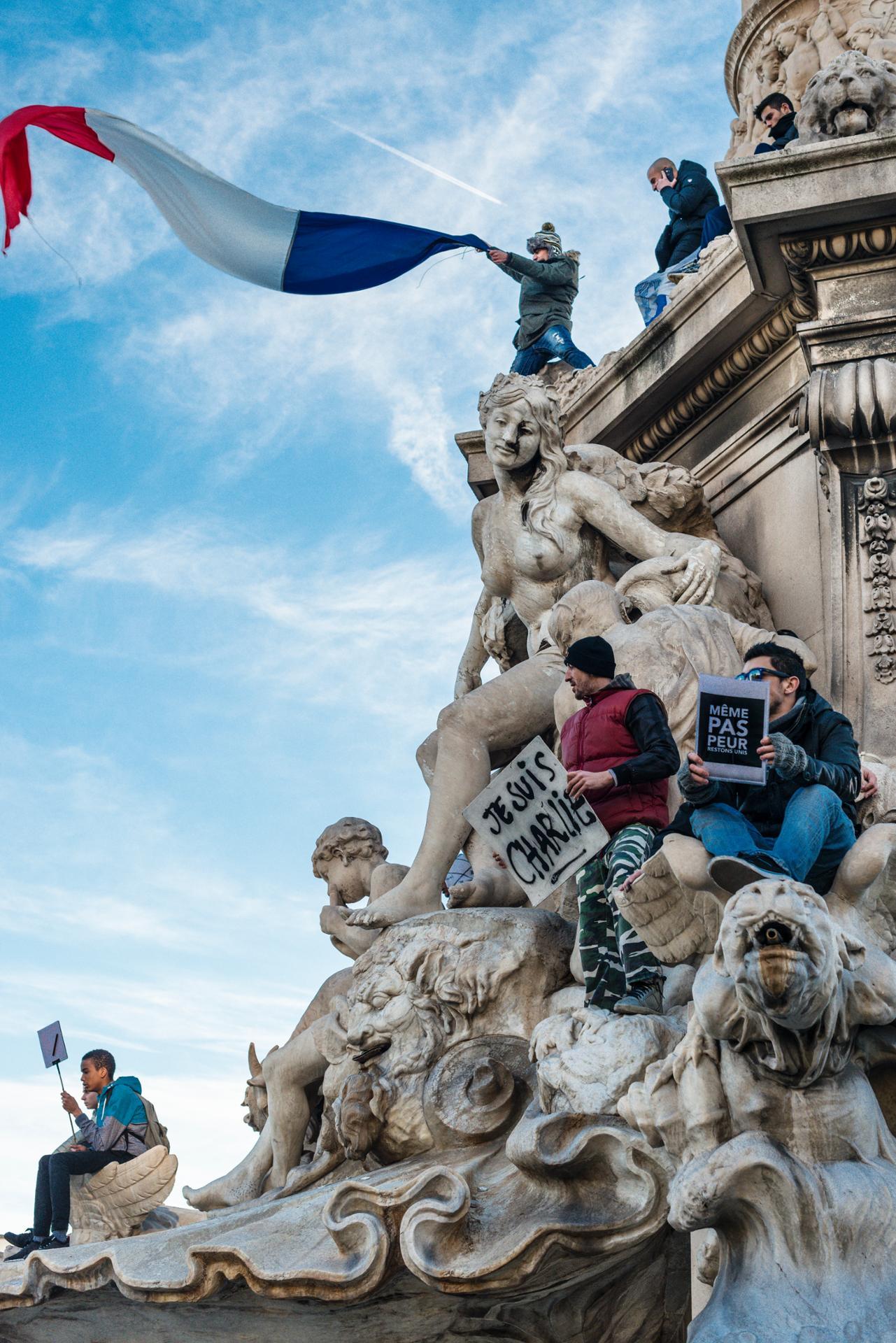 """Manif """"On est tous Charlie"""" Marseille"""