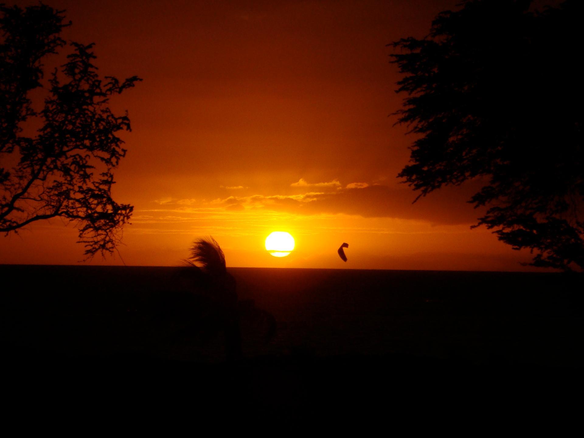 Couché de soleil hawaïen