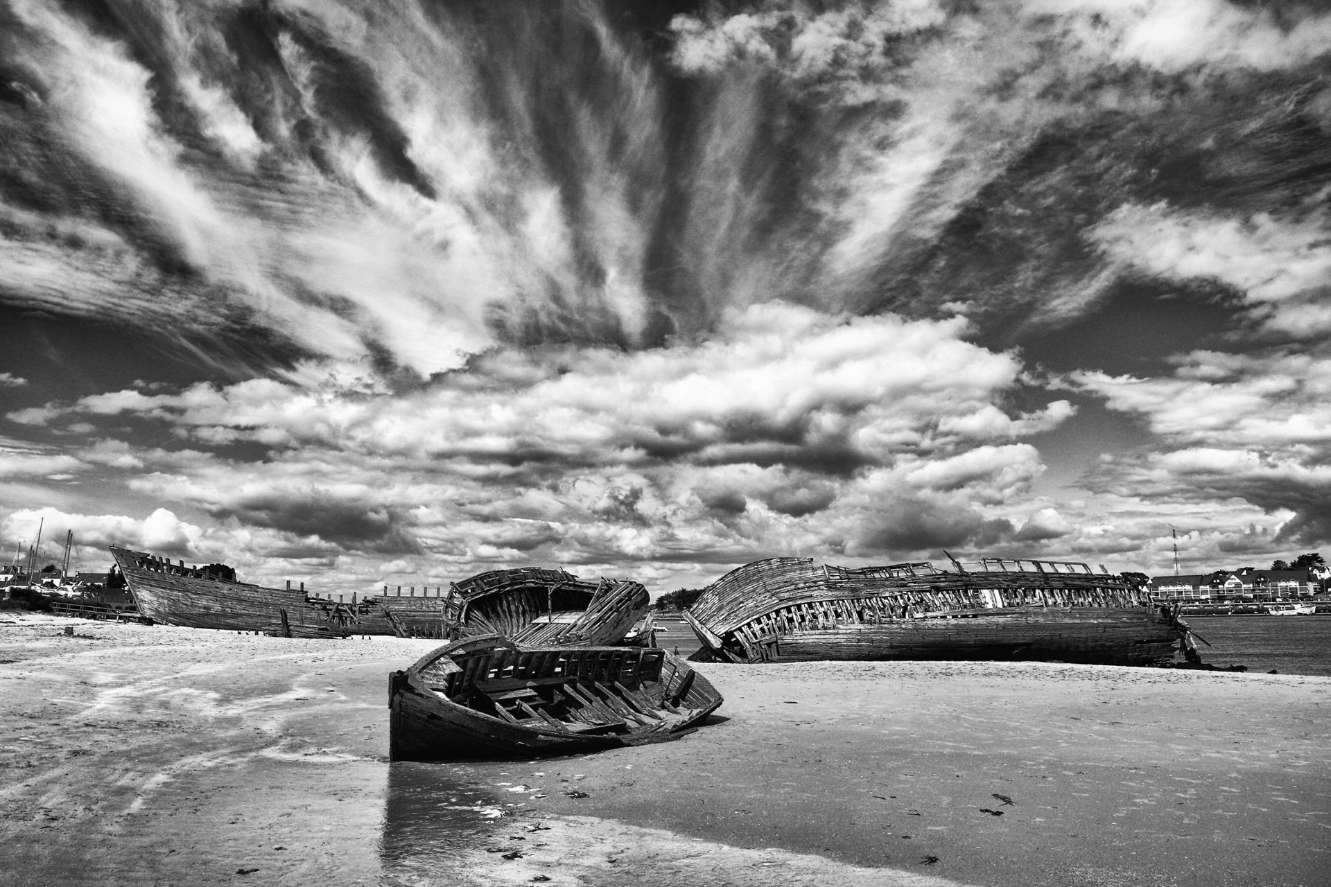 sur la plage d'Etel...