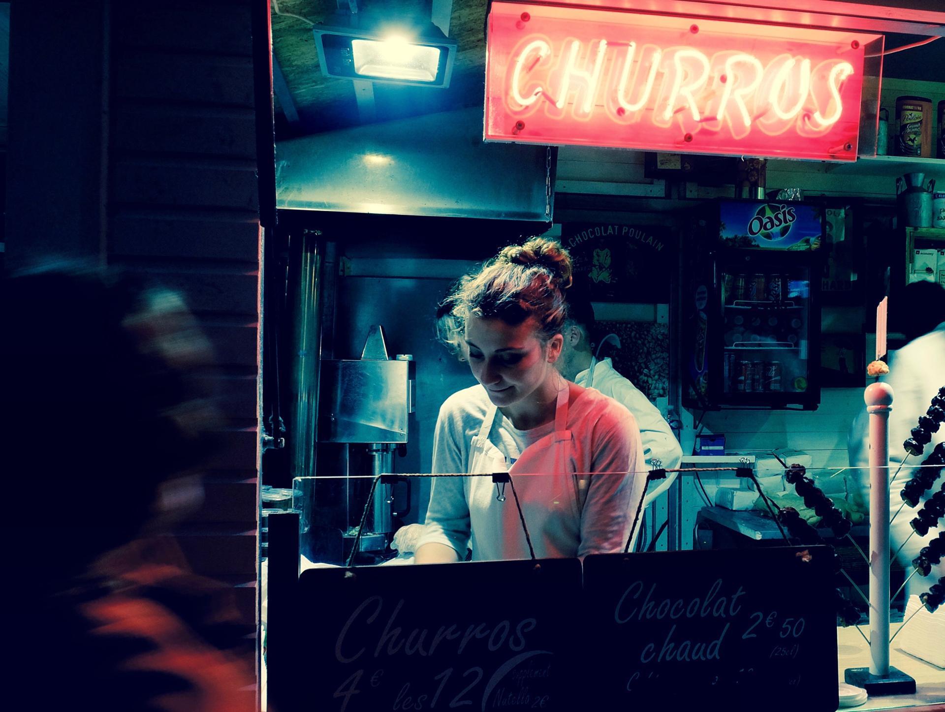 La vendeuse de churros